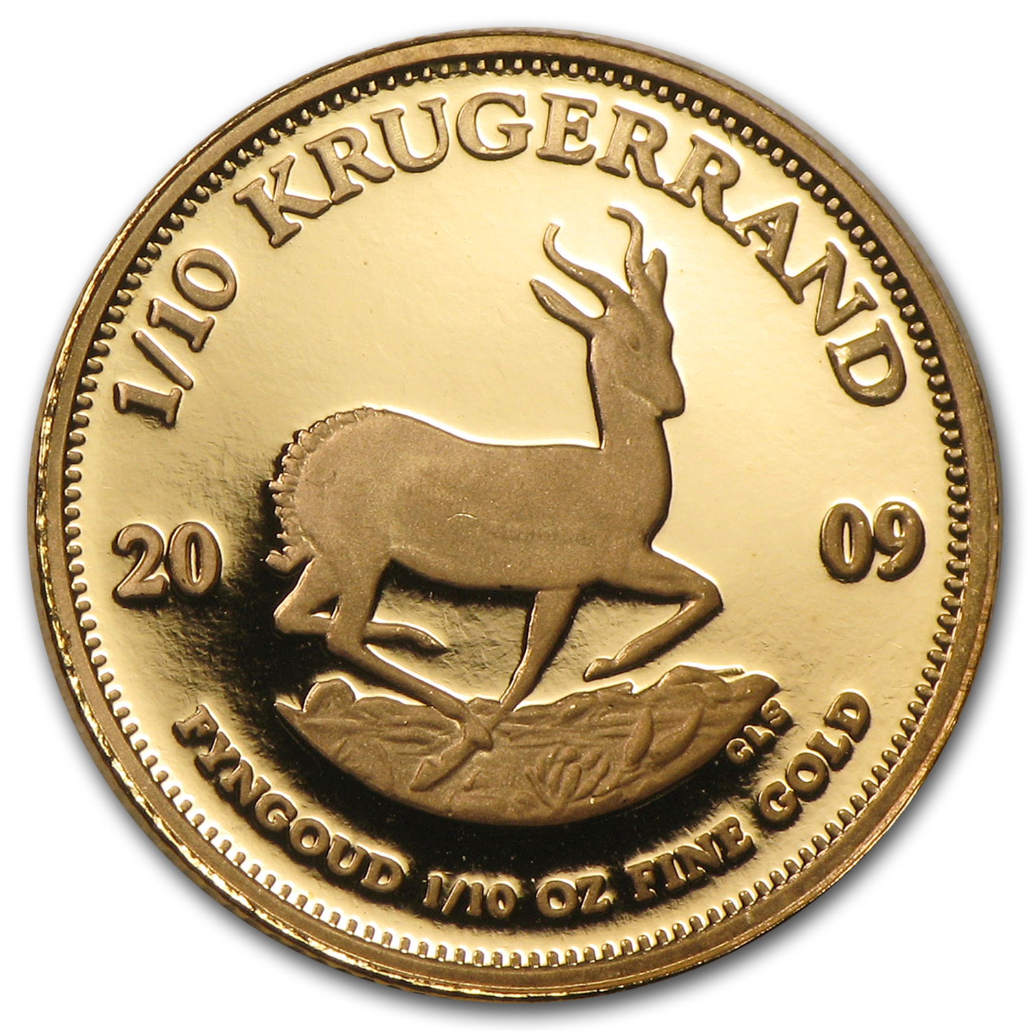 2009 1/10 oz Gold South African Krugerrand (Proof)