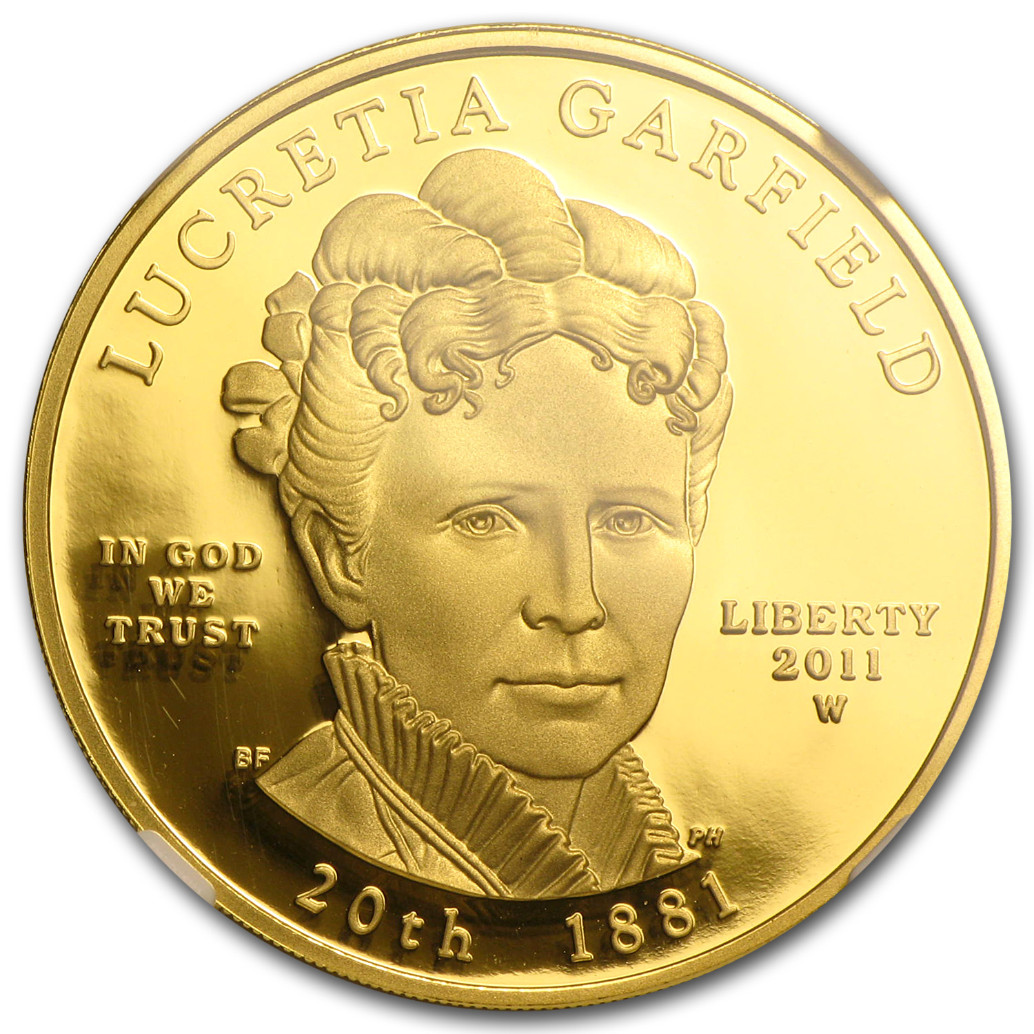 2011-W 1/2 oz Proof Lucretia Garfield NGC PF-70 UCAM