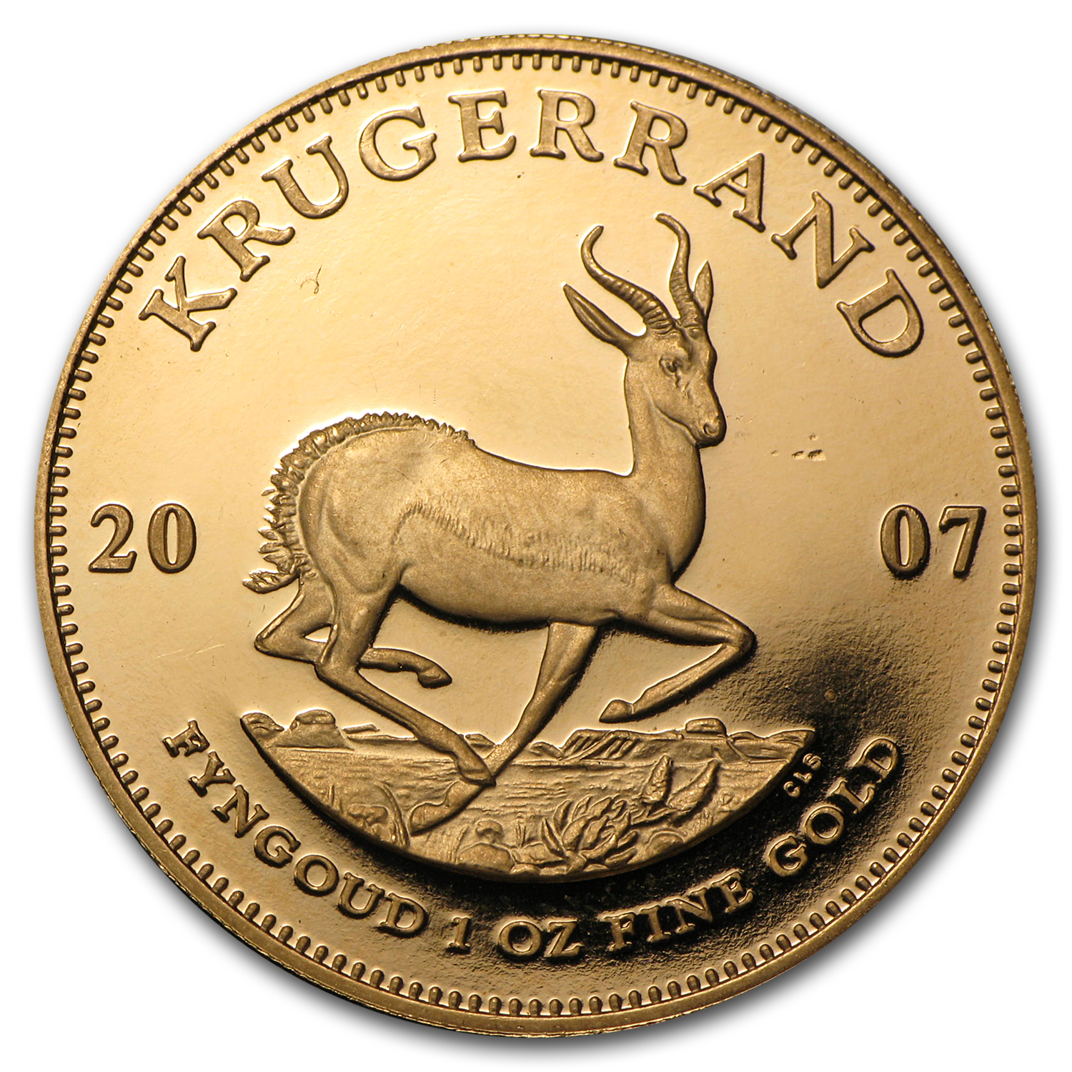 2007 South Africa 1 oz Proof Gold Krugerrand