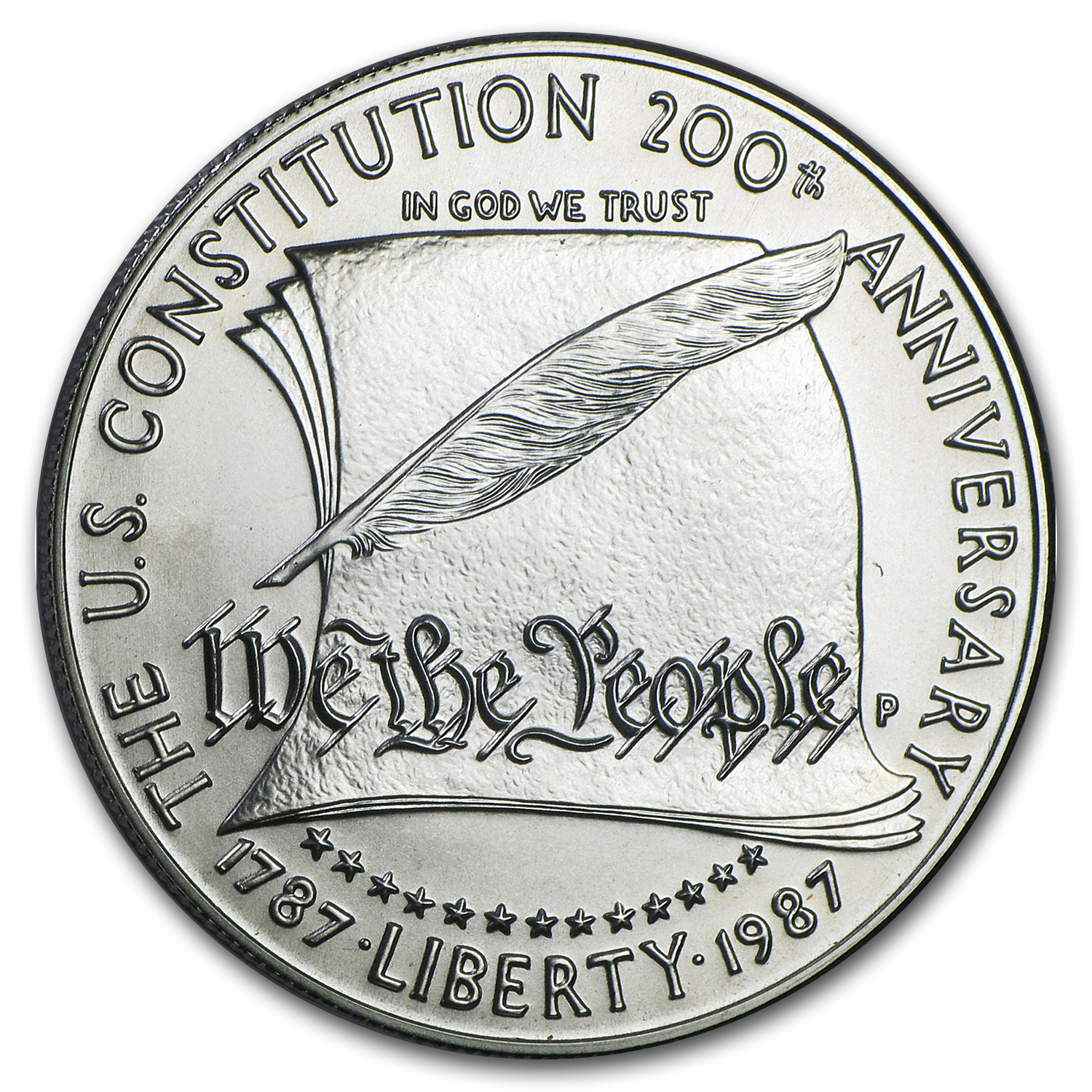 1987-S Constitution $1 Silver Commem Proof (w/Box & COA)