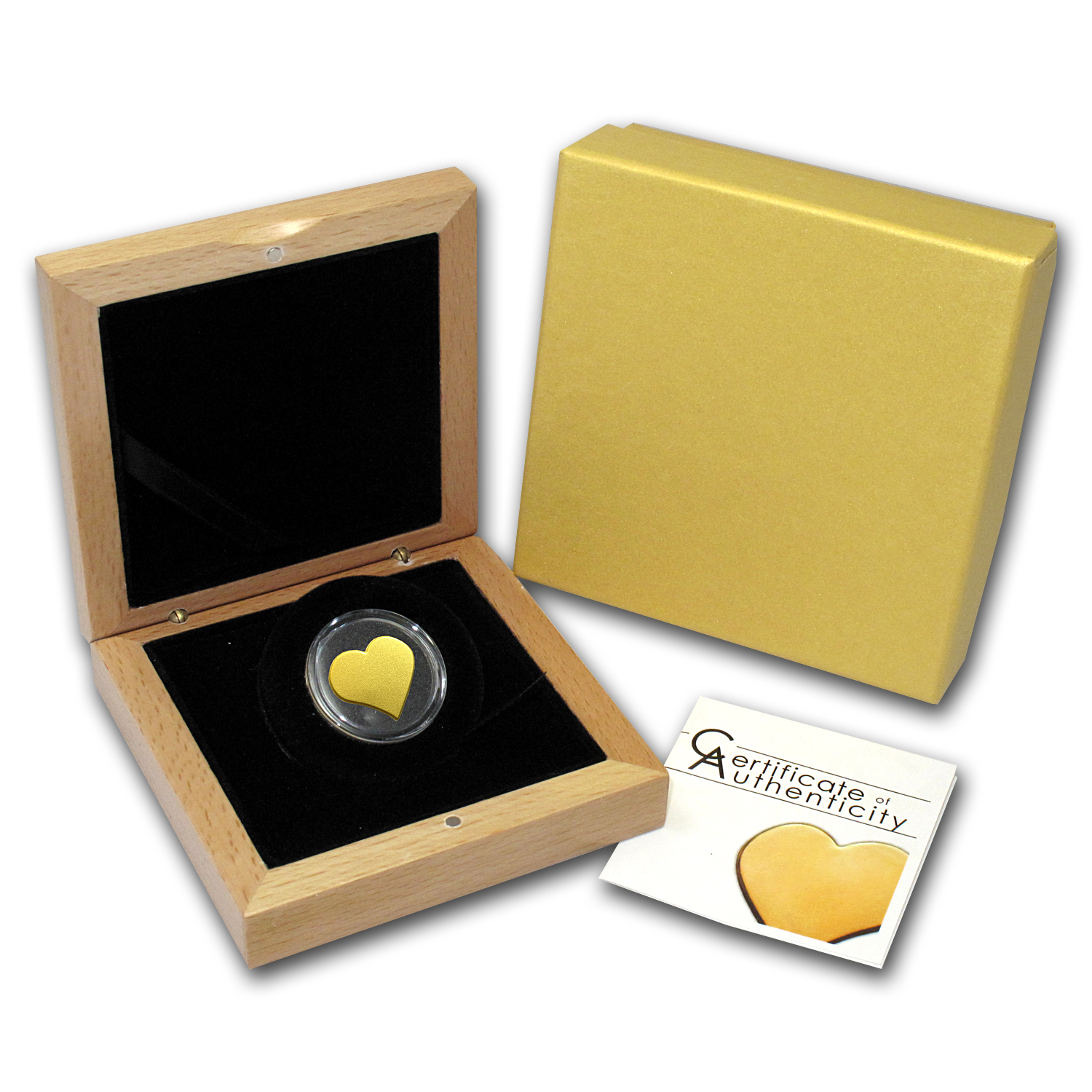 Palau 1/2 gram Gold $1 Everlasting Love Heart Coin