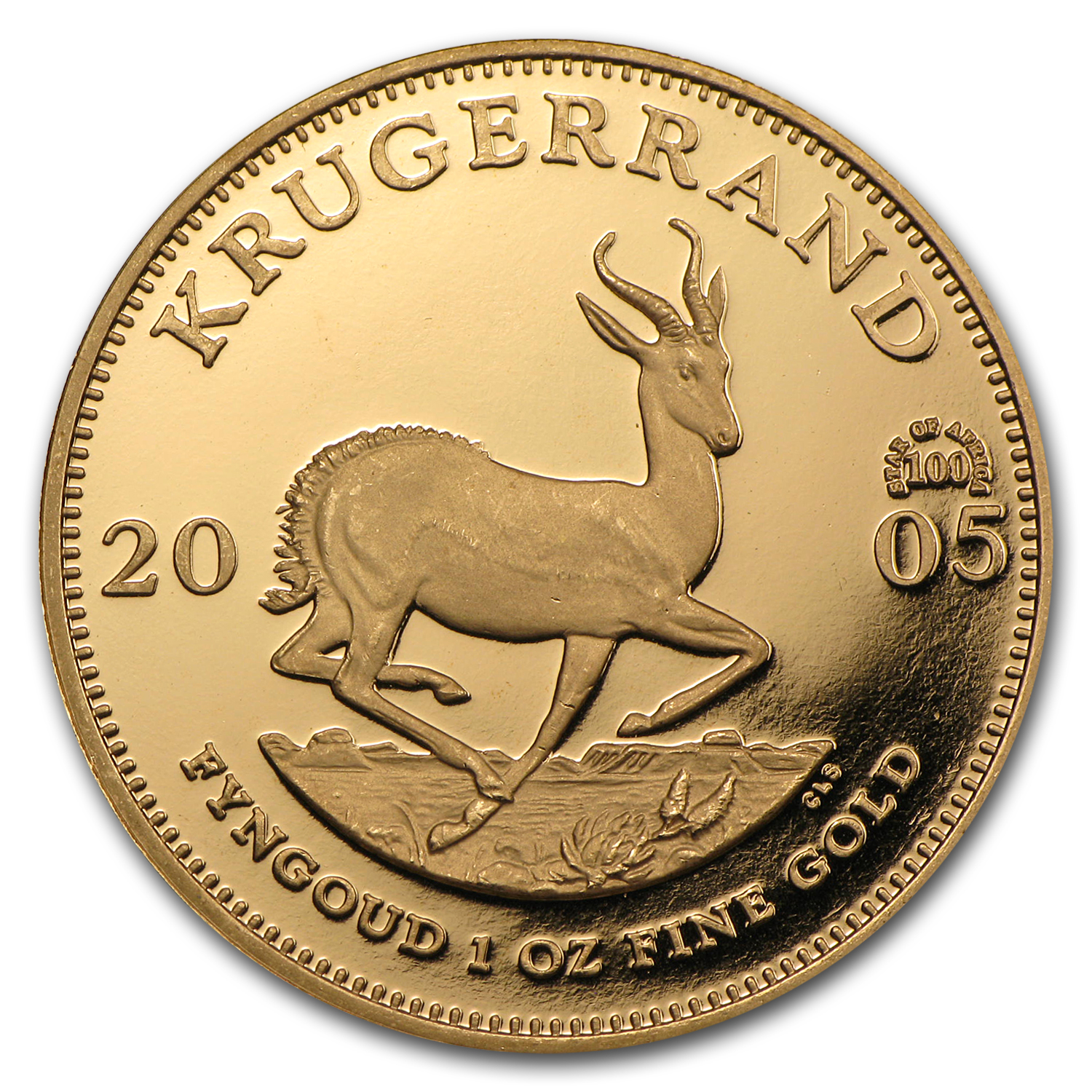 2005 South Africa 1 oz Proof Gold Krugerrand (Star of Africa)