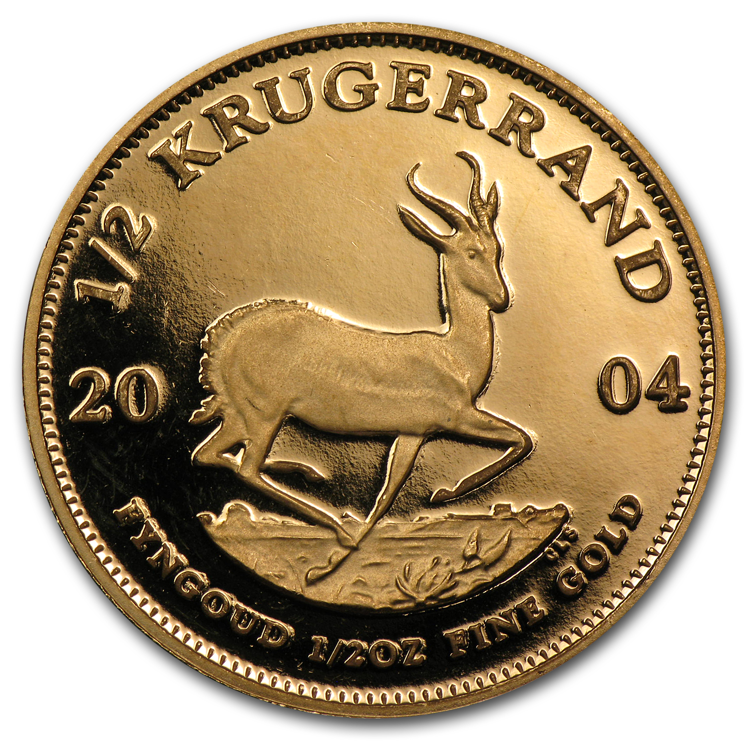 2004 South Africa 1/2 oz Proof Gold Krugerrand