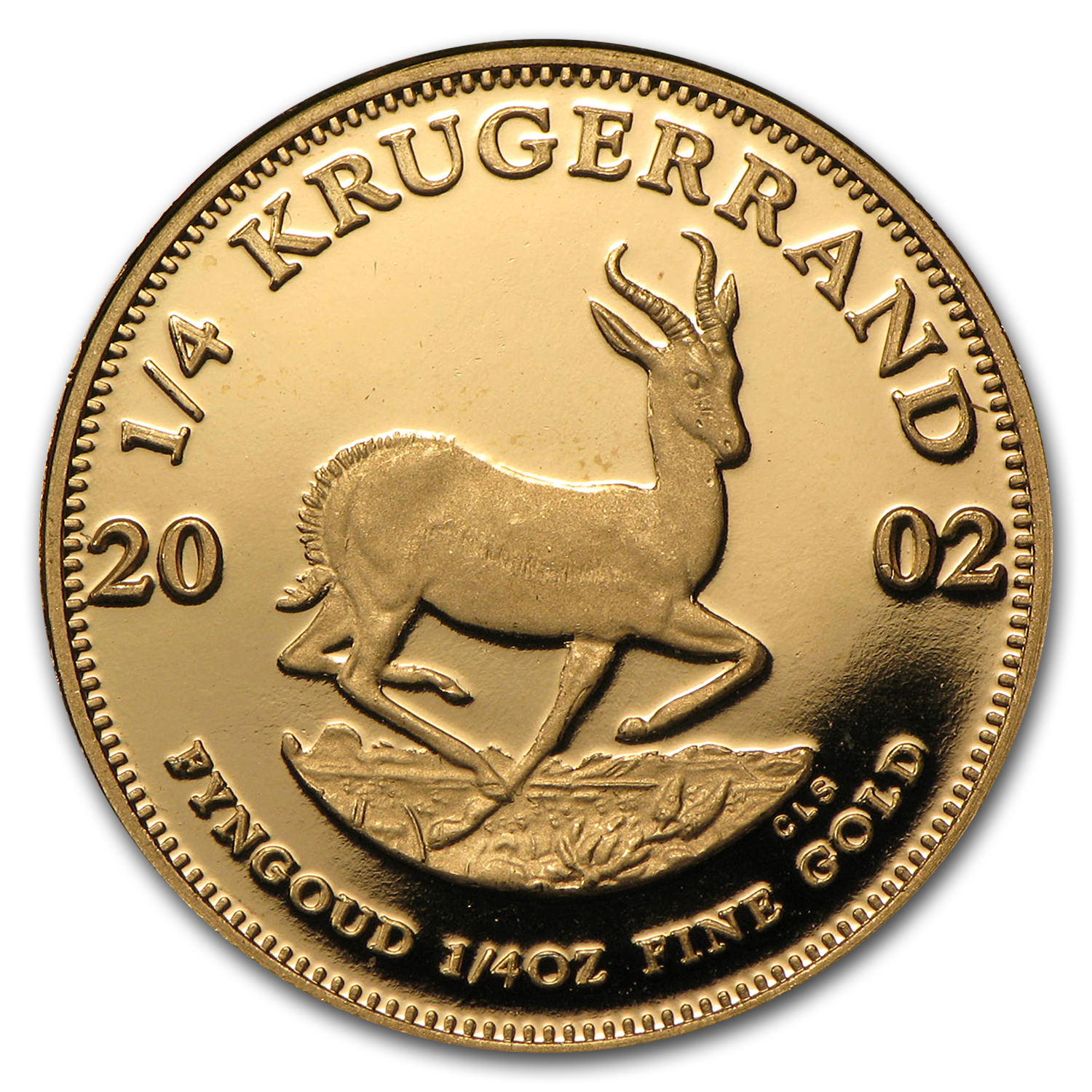 2002 South Africa 1/4 oz Proof Gold Krugerrand