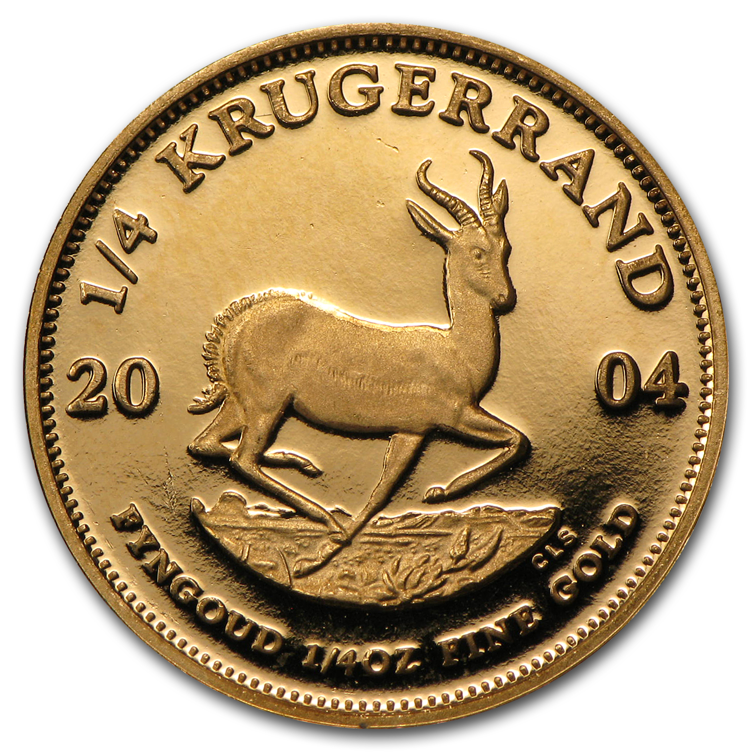 2004 South Africa 1/4 oz Proof Gold Krugerrand