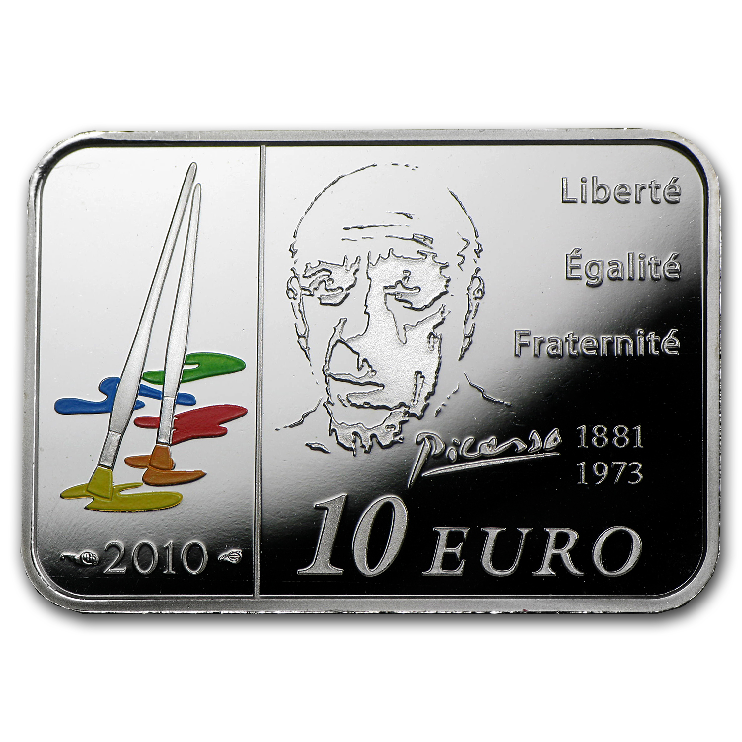 2010 France Silver €10 Pablo Picasso Proof