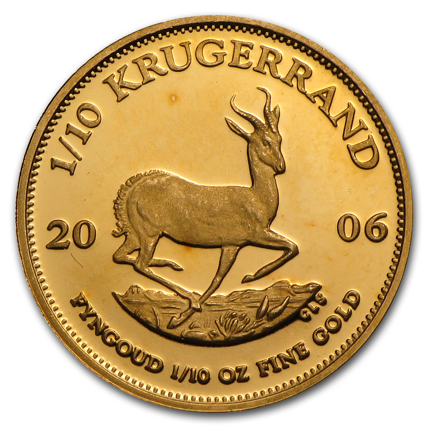 2006 South Africa 1/10 oz Proof Gold Krugerrand