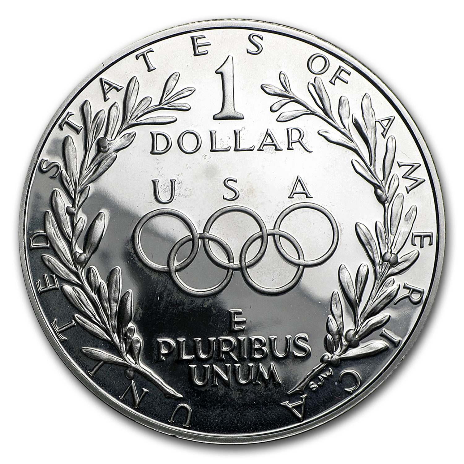 1988-S Olympic $1 Silver Commem Proof (w/Box & COA)
