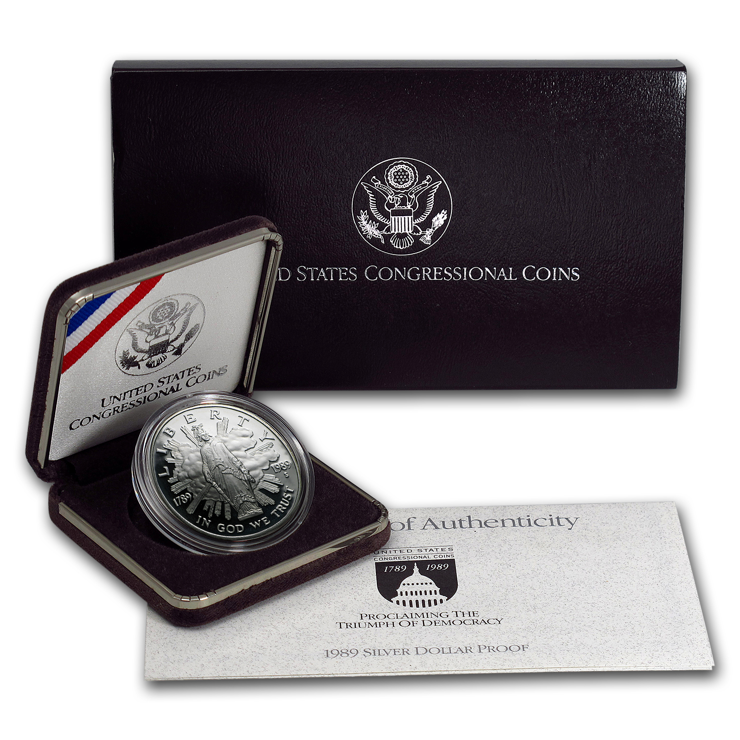1989-S Congressional $1 Silver Commem Proof (w/Box & COA)