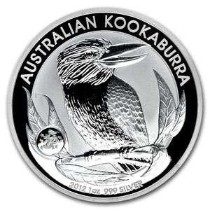 2012 1 oz Silver Australian Kookaburra Dragon Privy (Box of 100)