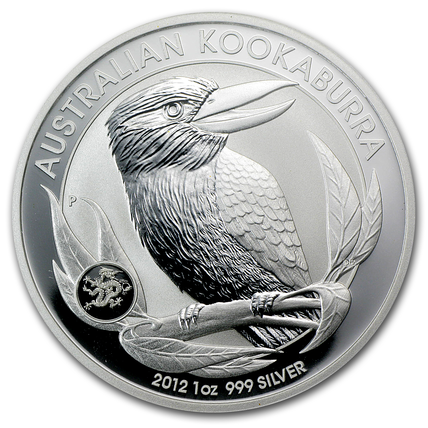 2012 1 oz Silver Kookaburra MS-70 PCGS (FS, Dragon Privy)