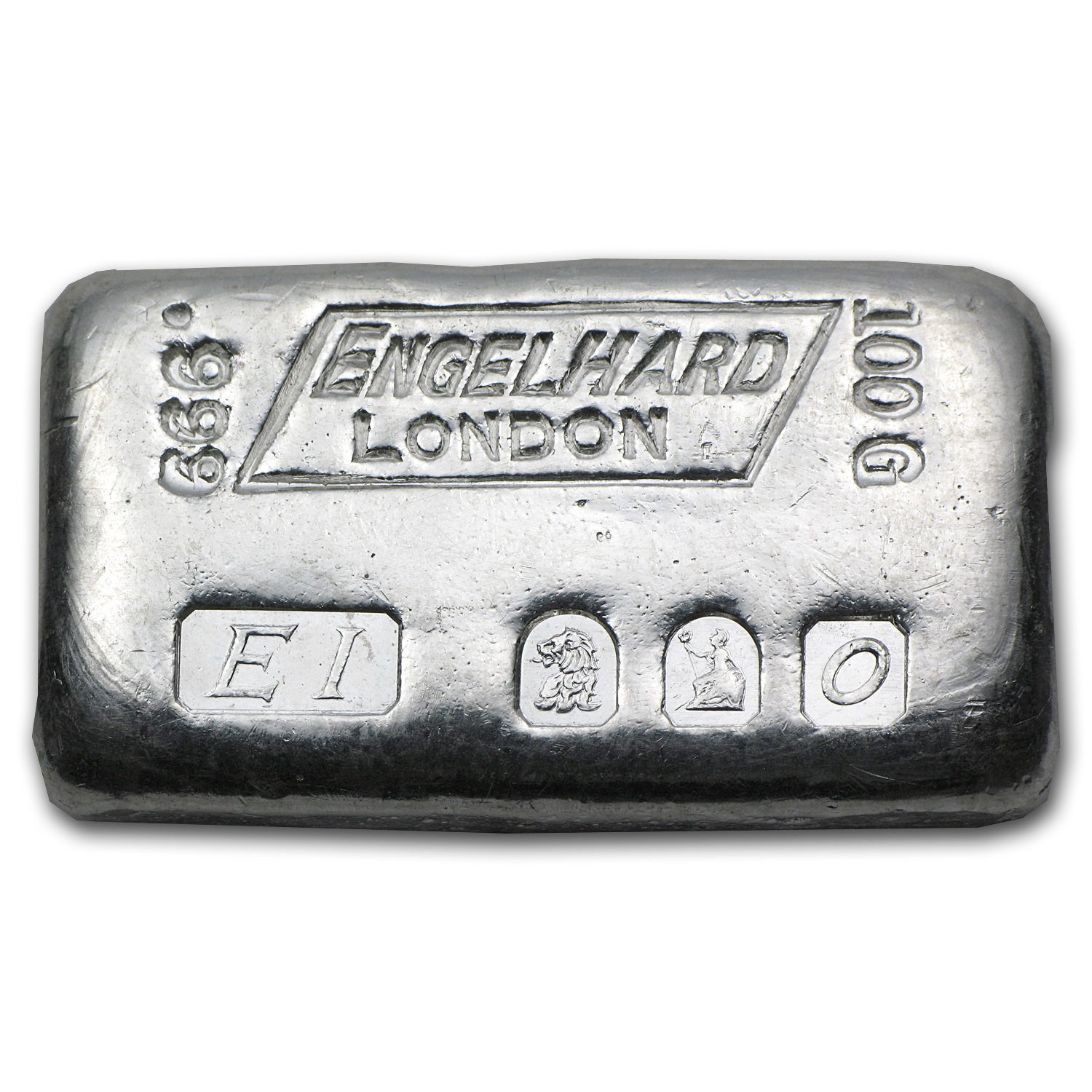 100 gram Silver Bar - Engelhard (London/Brittania/1963)