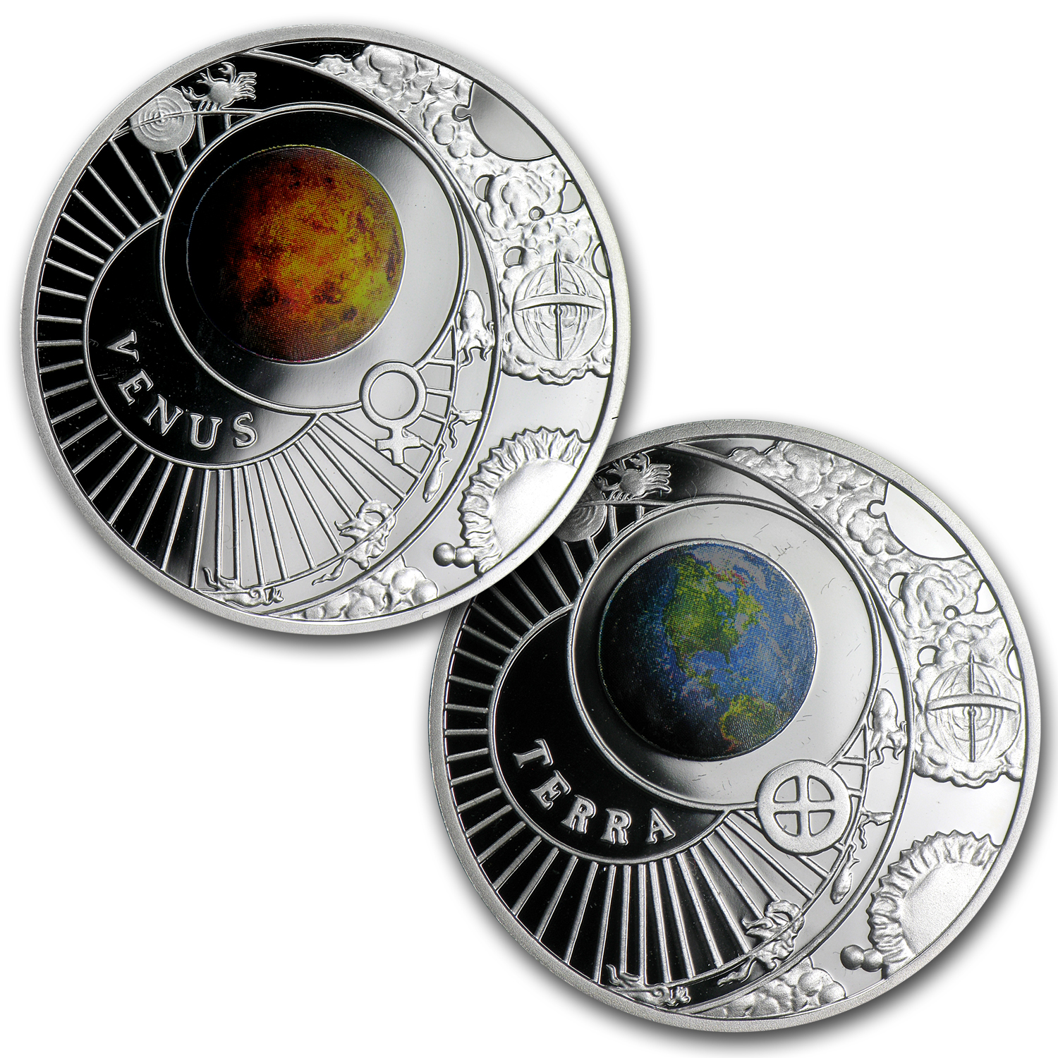 2012 Belarus 9-Coin The Solar System Proof Silver Box Set