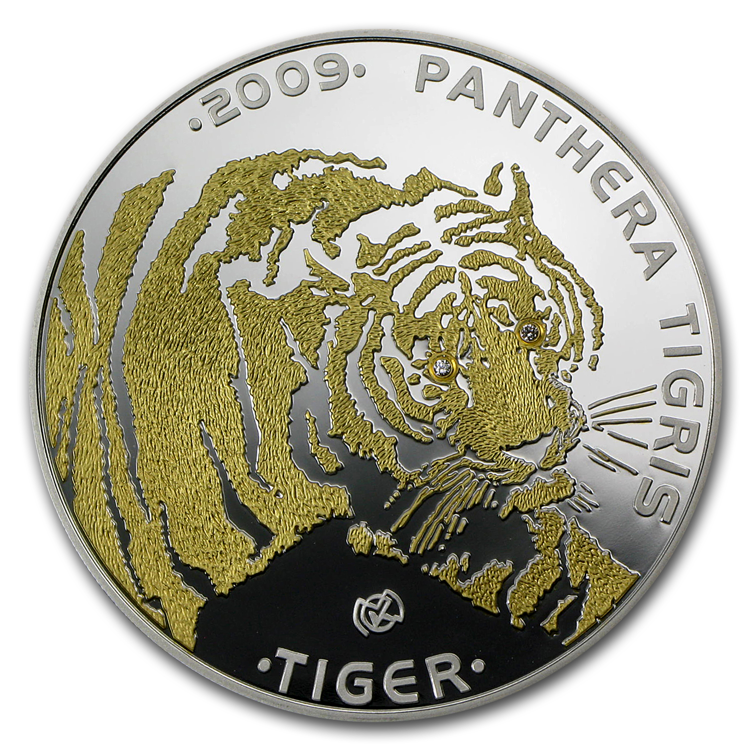 2009 Kazakhstan Silver 100 Tenge Endangered Animal Tiger Proof
