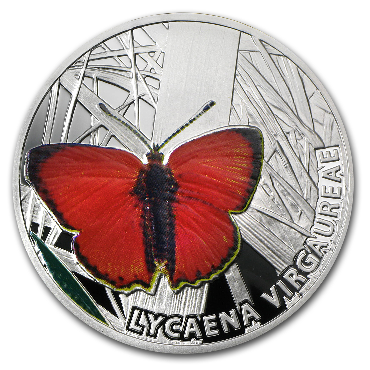 Niue 2010 Proof Silver $1 Butterflies - Scarce Copper