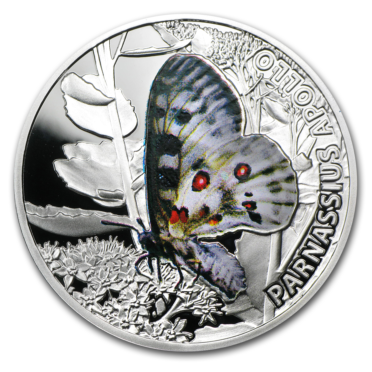 Niue 2010 Proof Silver $1 Butterflies - Apollo