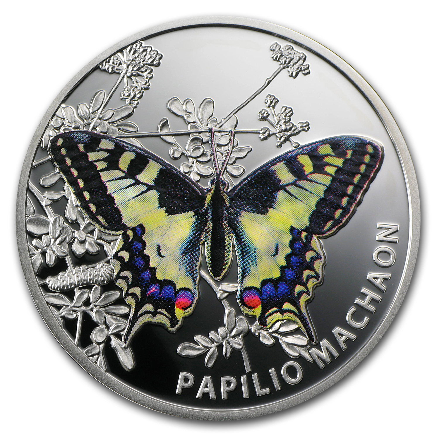 2011 Niue Proof Silver $1 Butterflies Old World Swallowtail