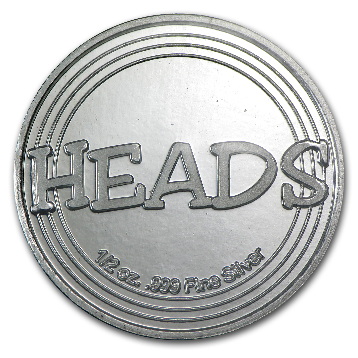 1/2 oz Silver Round - Heads or Tails Novelty
