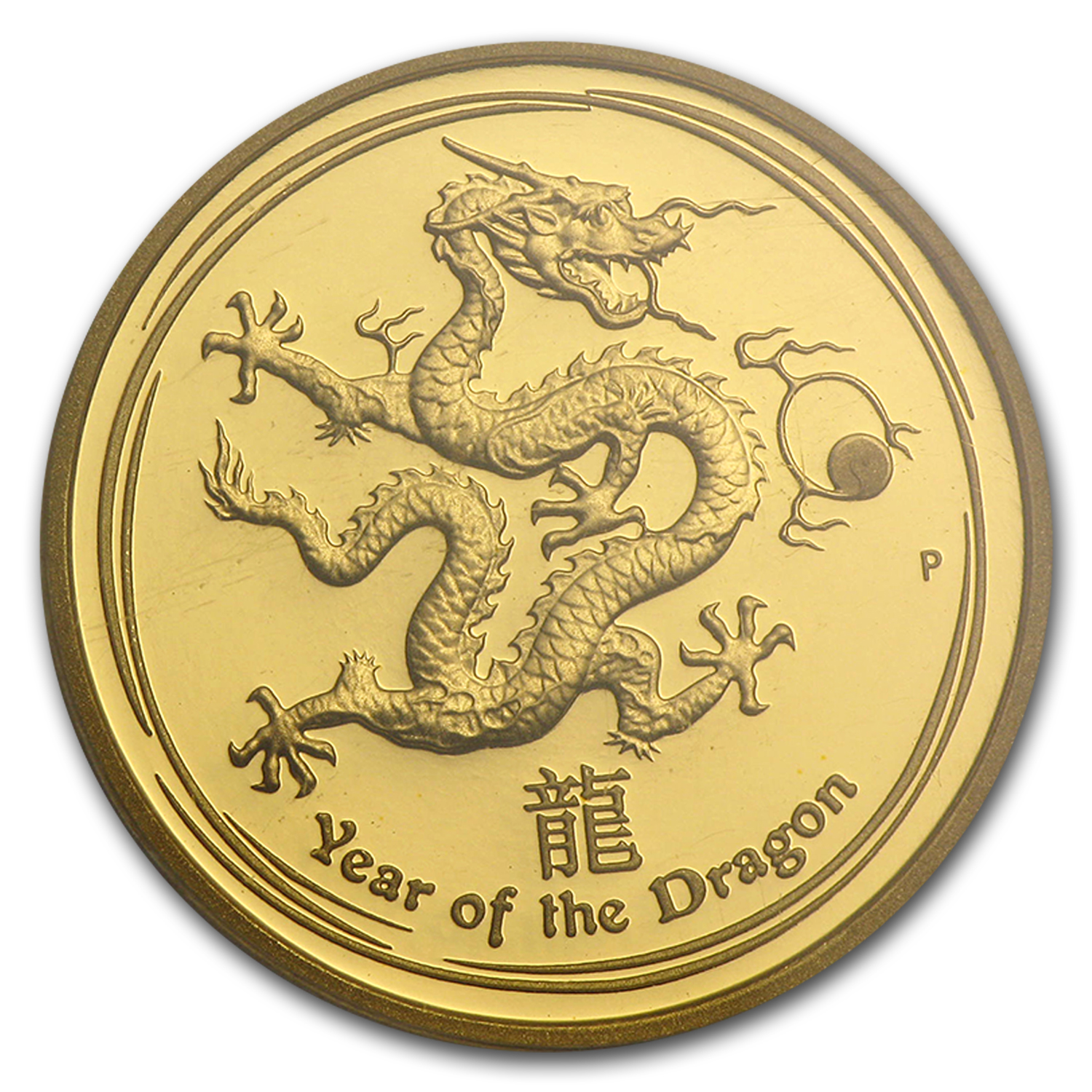 2012 1/4 oz Proof Gold Lunar Year of the Dragon (SII) PCGS PR-70
