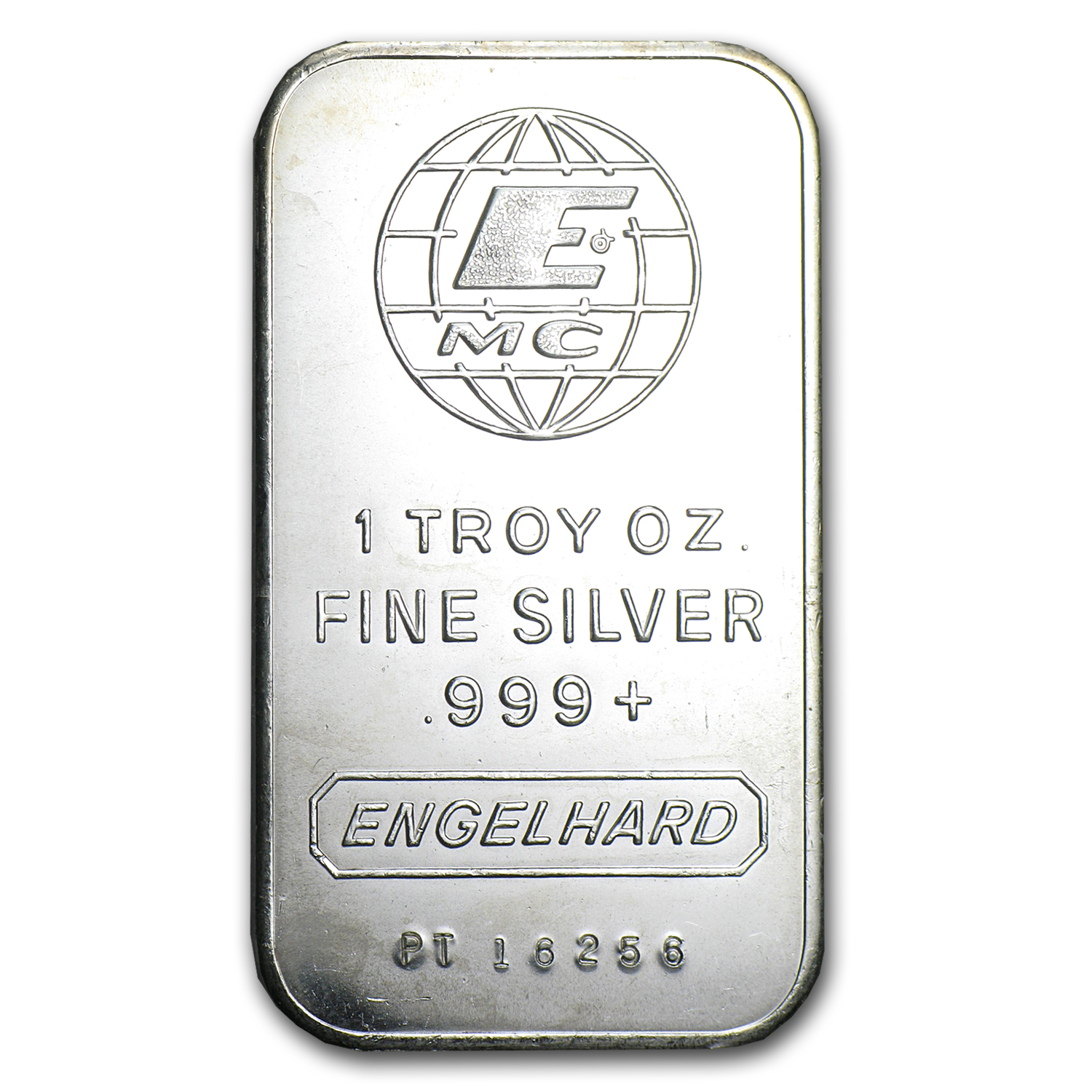 1 oz Silver Bar - Engelhard (Tall-E Logo)