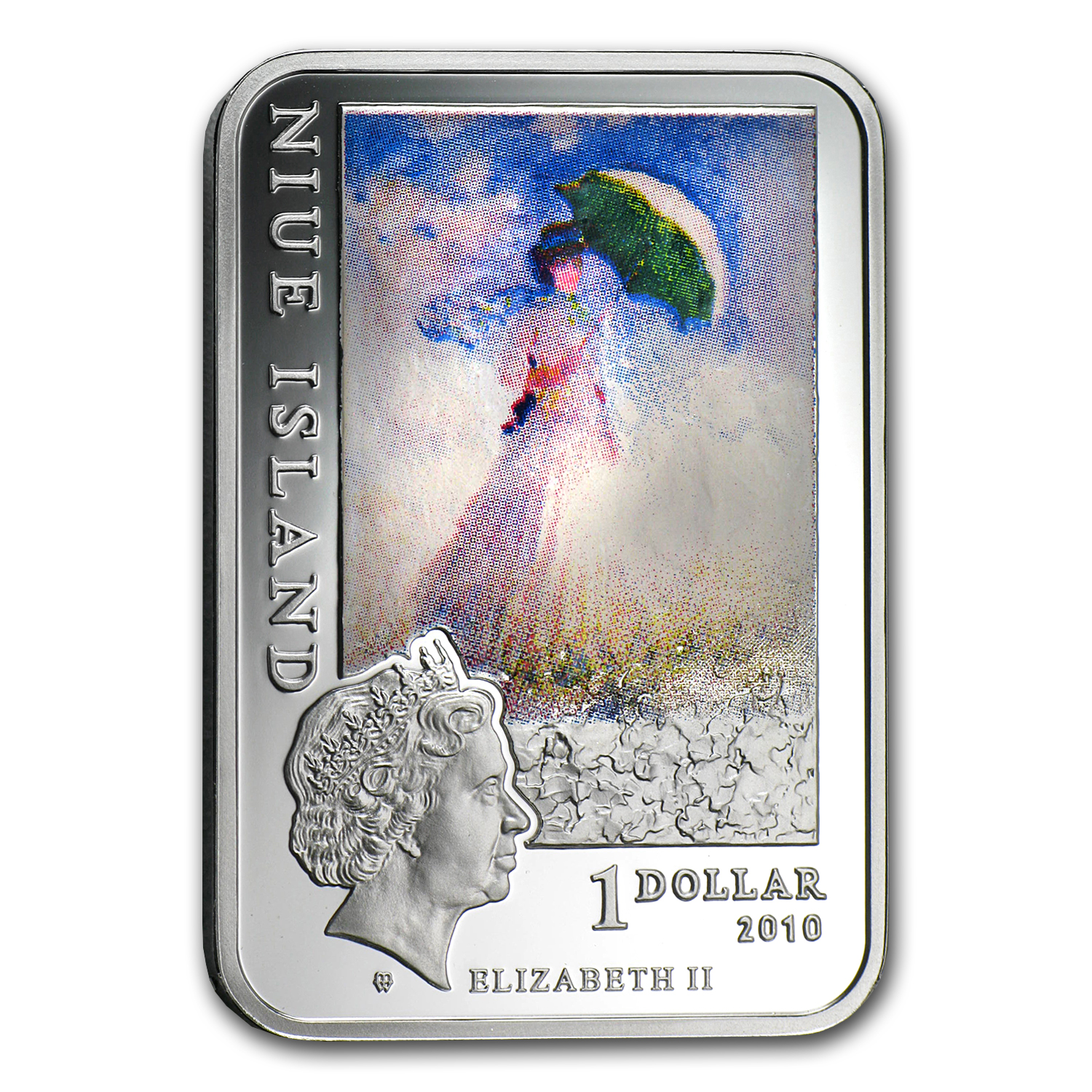 2010 Niue Silver $1 Painters of the World Claude Monet