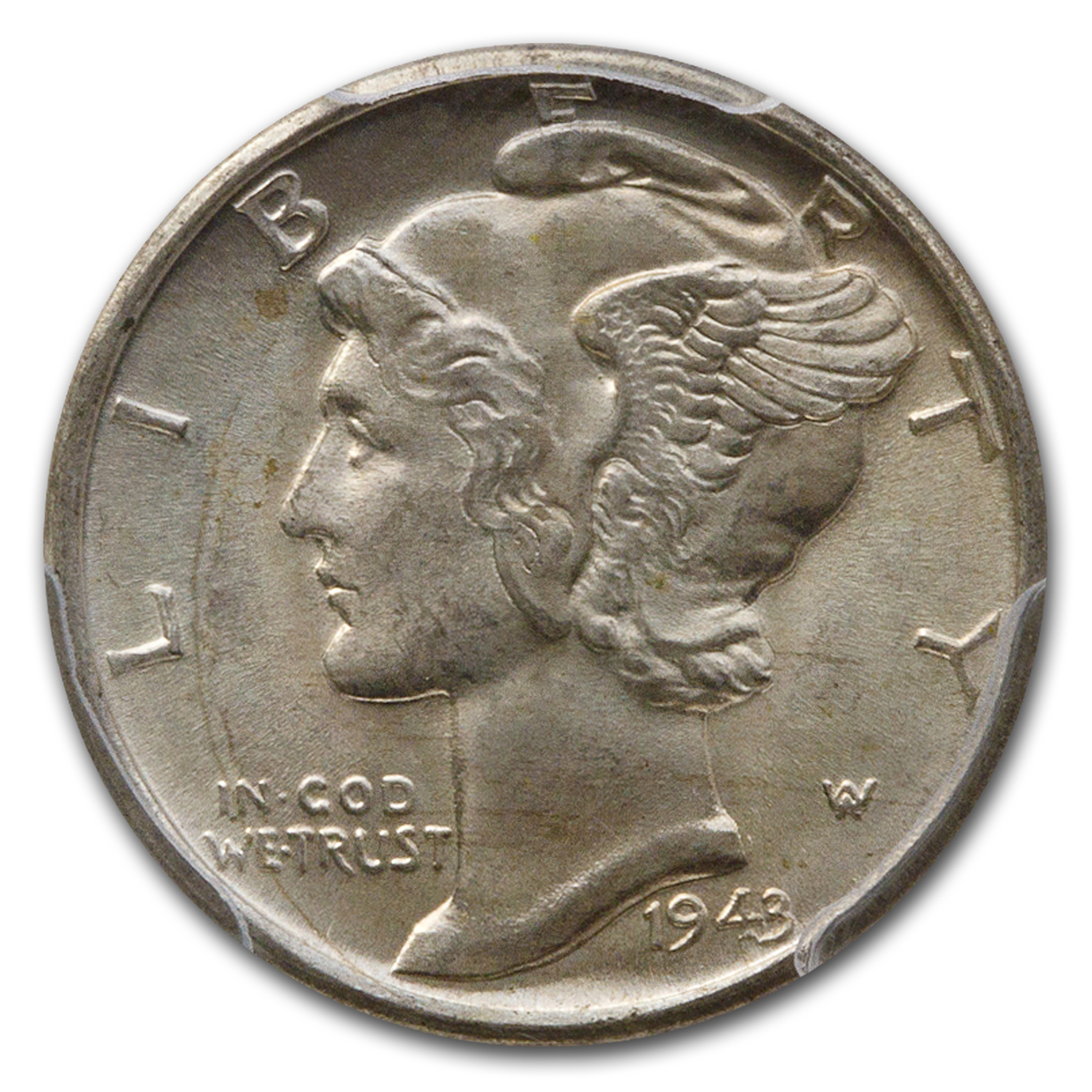 1943-D Mercury Dime MS-64 PCGS