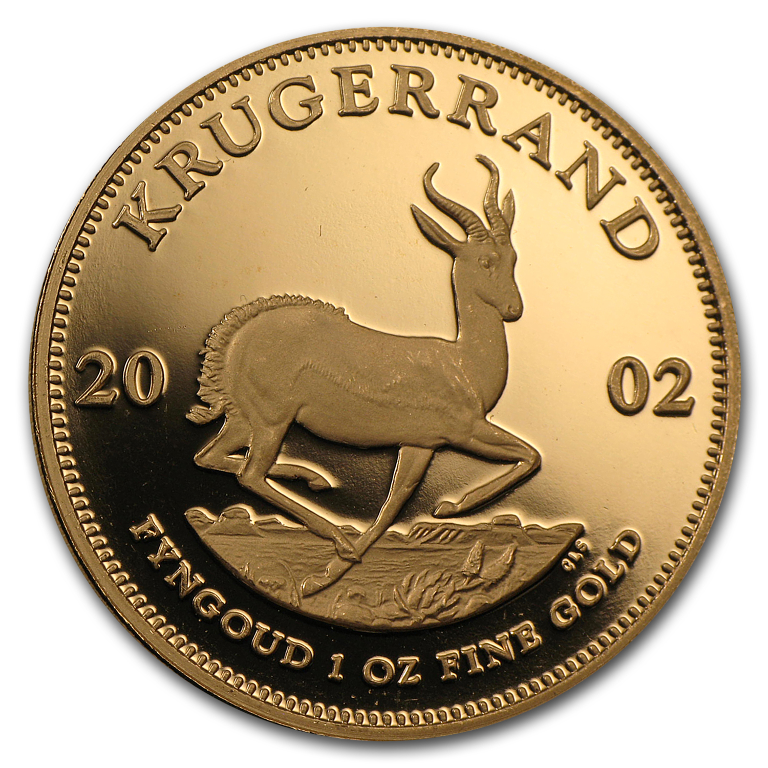 2002 1 oz Gold South African Krugerrand (Proof) Coin Only