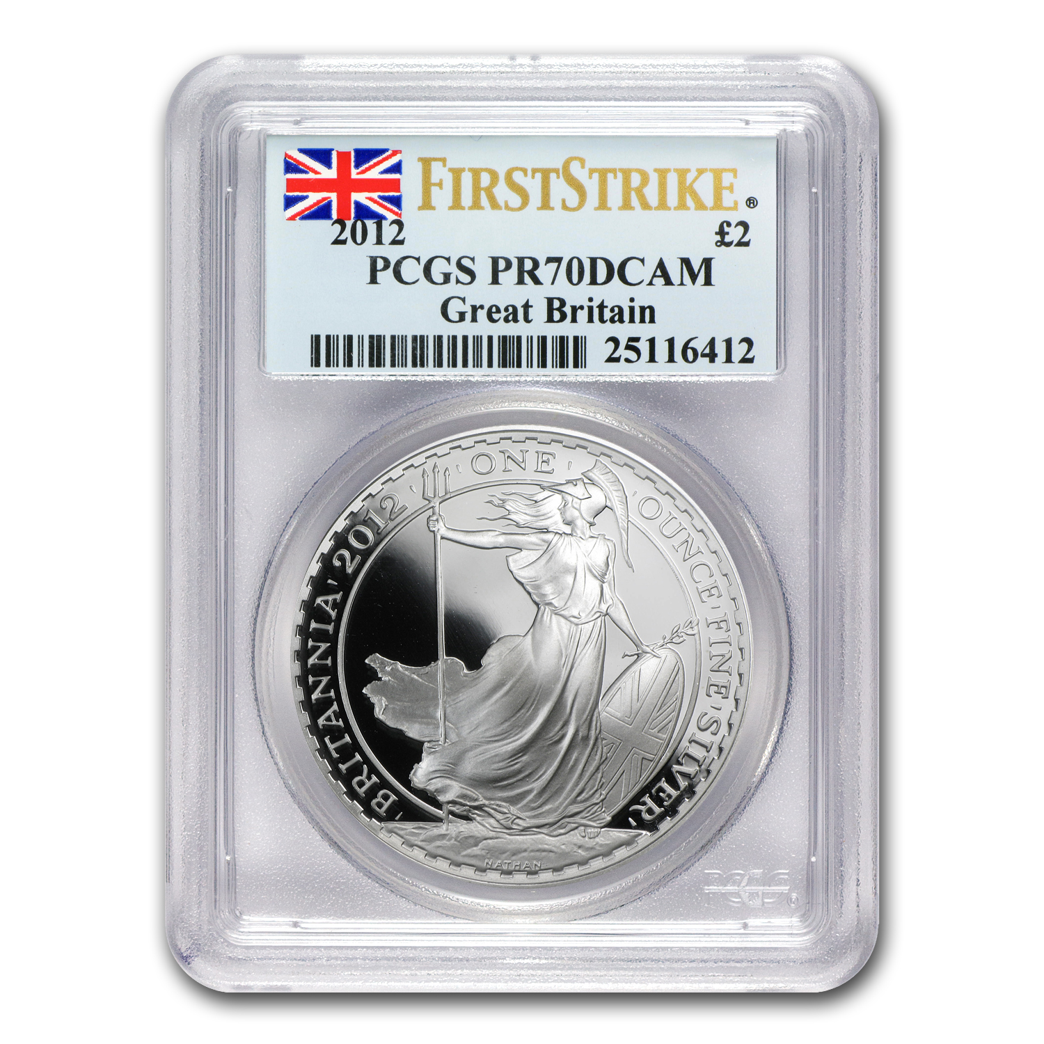 2012 Great Britain 1 oz Silver Britannia PR-70 DCAM PCGS (FS)