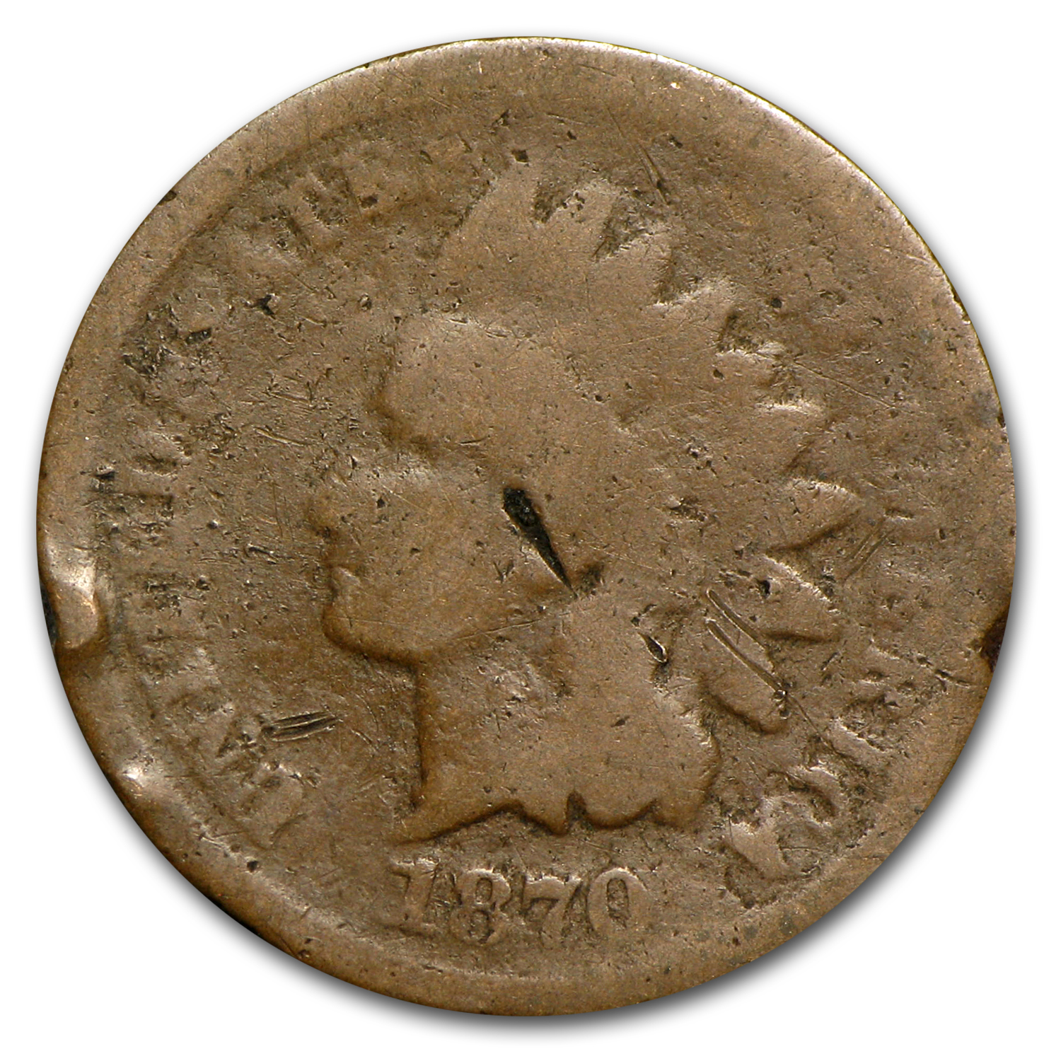 1870 Indian Head Cent Cull