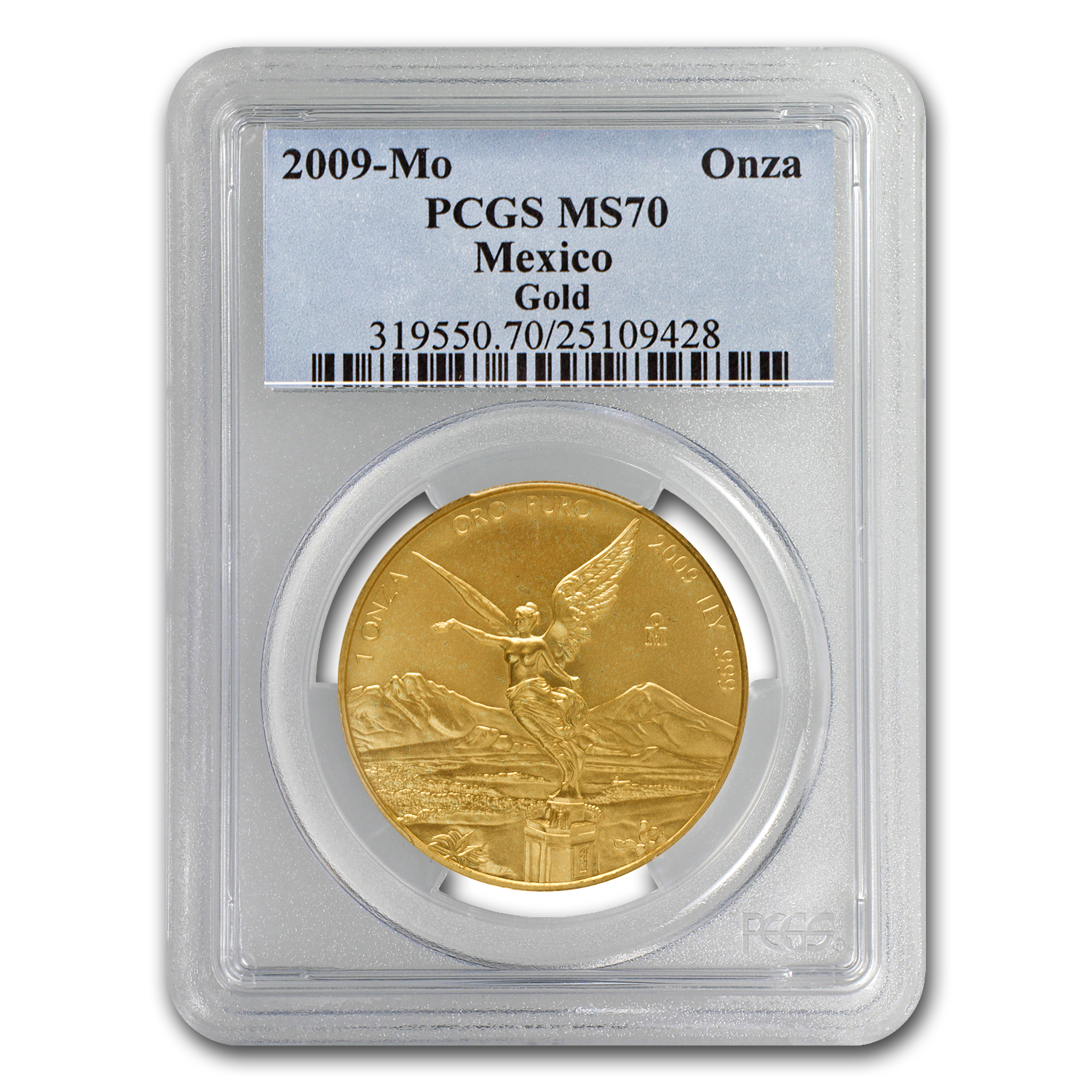 2009 1 oz Gold Mexican Libertad MS-70 PCGS