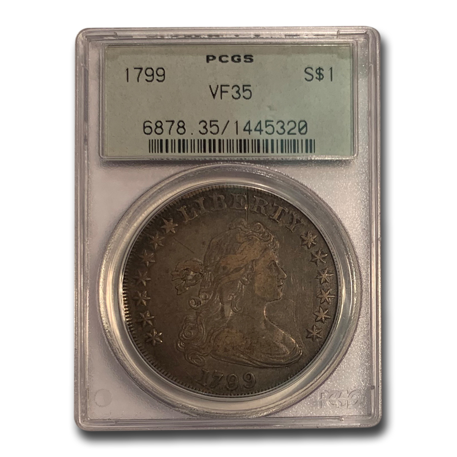 1799 Draped Bust Dollar VF-35 PCGS