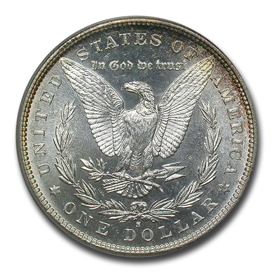 1881-S Morgan Dollar - MS-65 PCGS - CAC - Old Rattler Holder