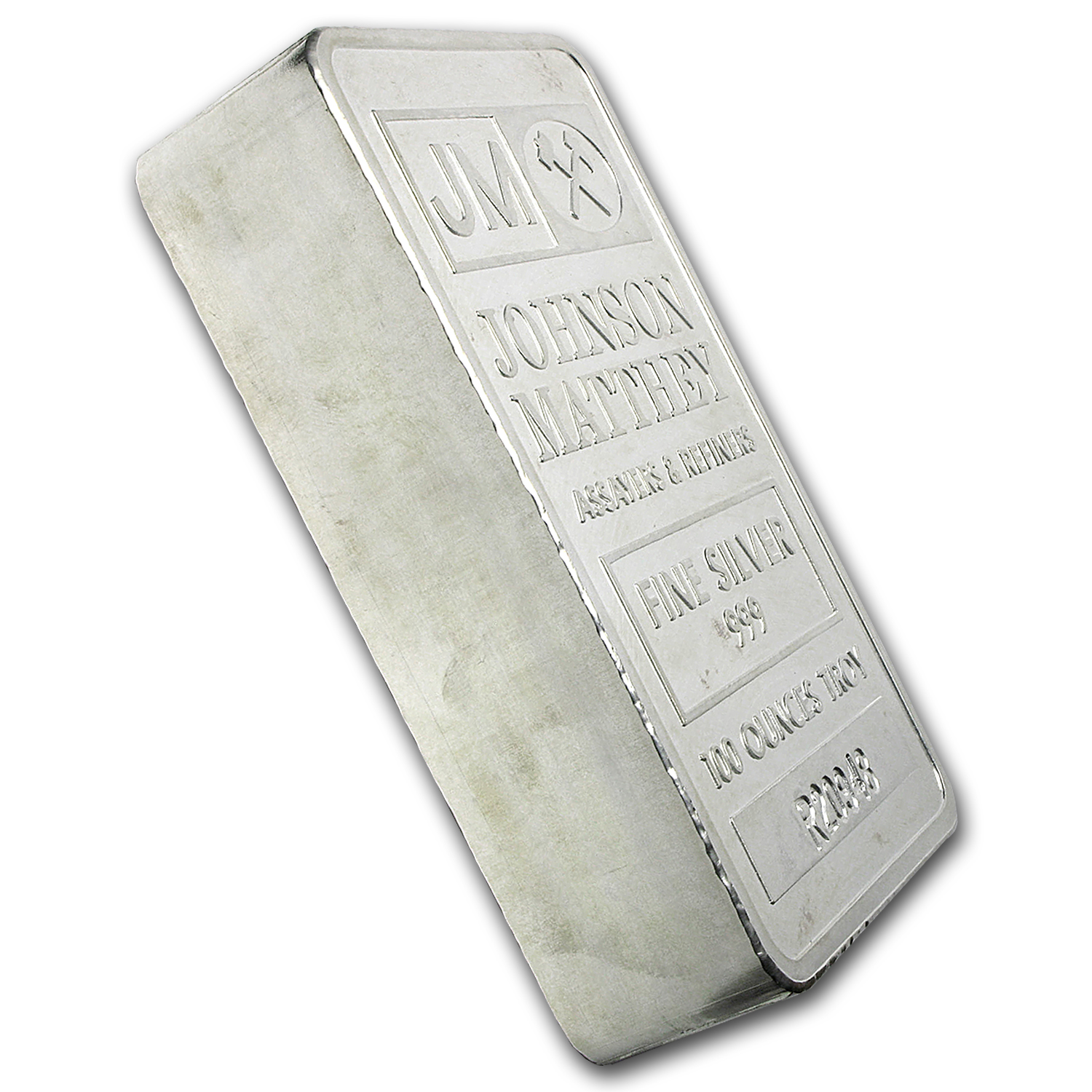 100 oz Silver Bar - Johnson Matthey (Pressed, w/Box & Serial #'s)