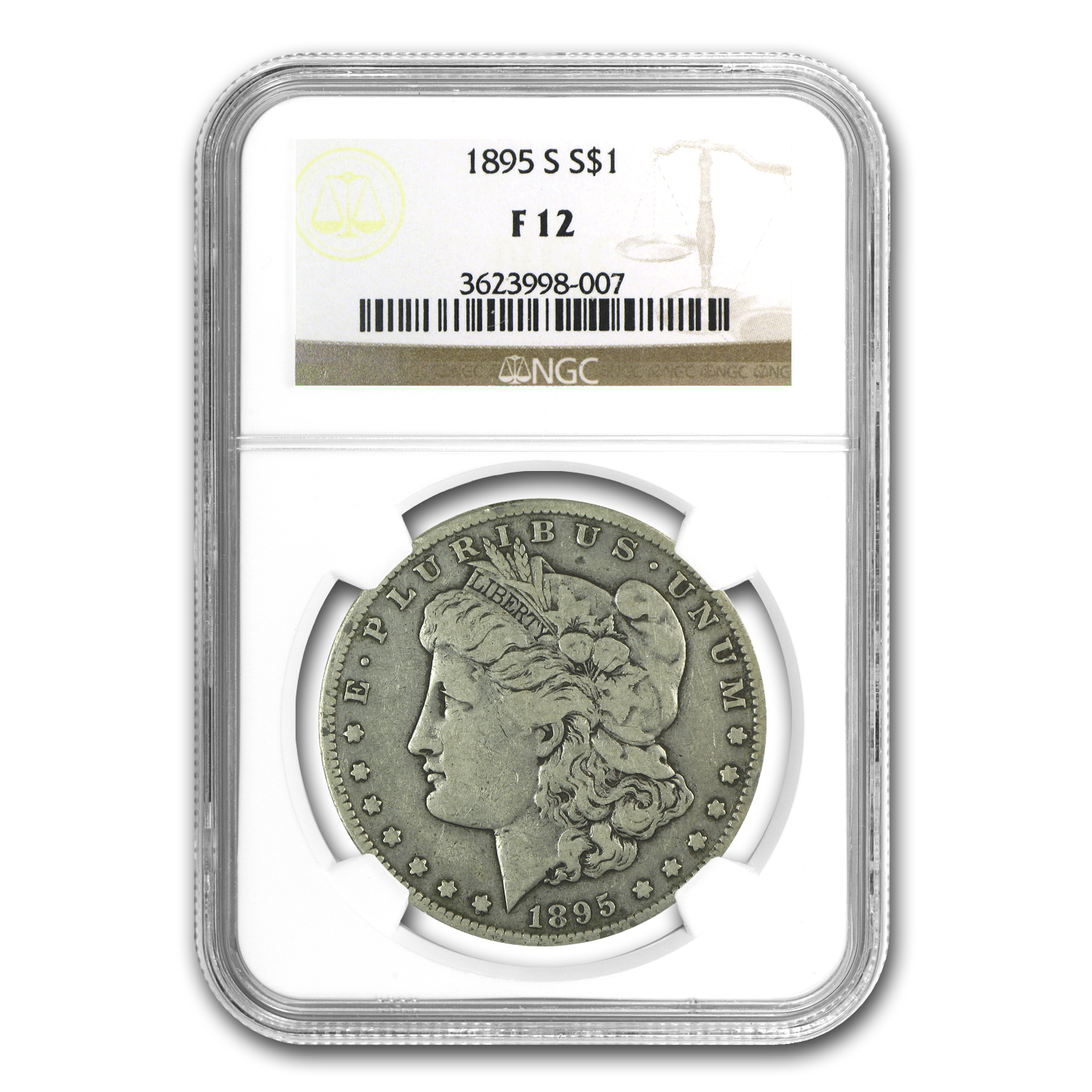 1895-S Morgan Dollar Fine-12 NGC