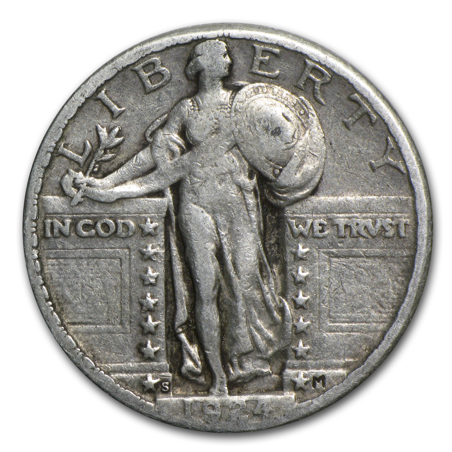 1924-S Standing Liberty Quarter XF