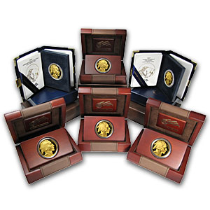 2006-2012 1 oz Proof American Gold Buffalo Set (w/Box & CoA)