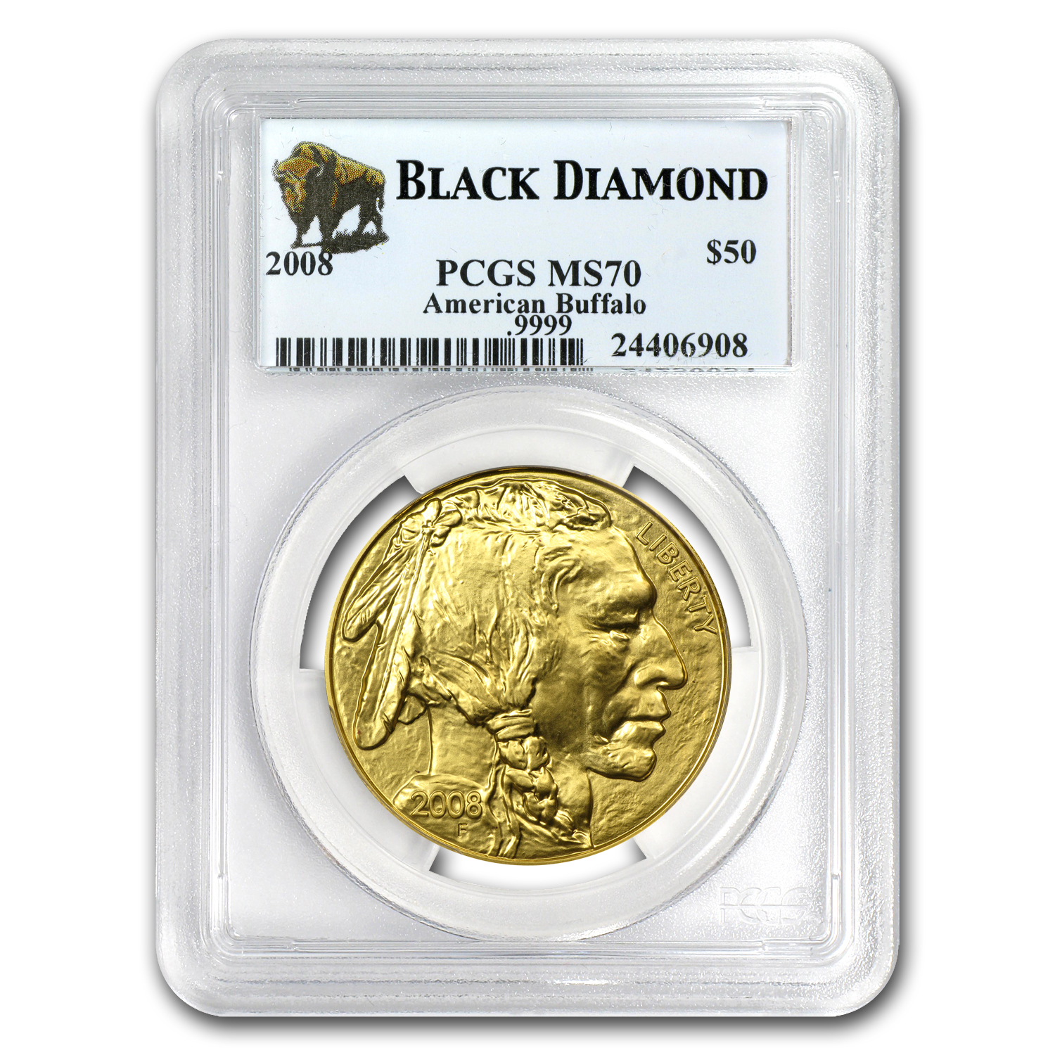 2006-2012 1 oz Gold Buffalo MS-70 PCGS (Black Diamond/7-Coin Set)
