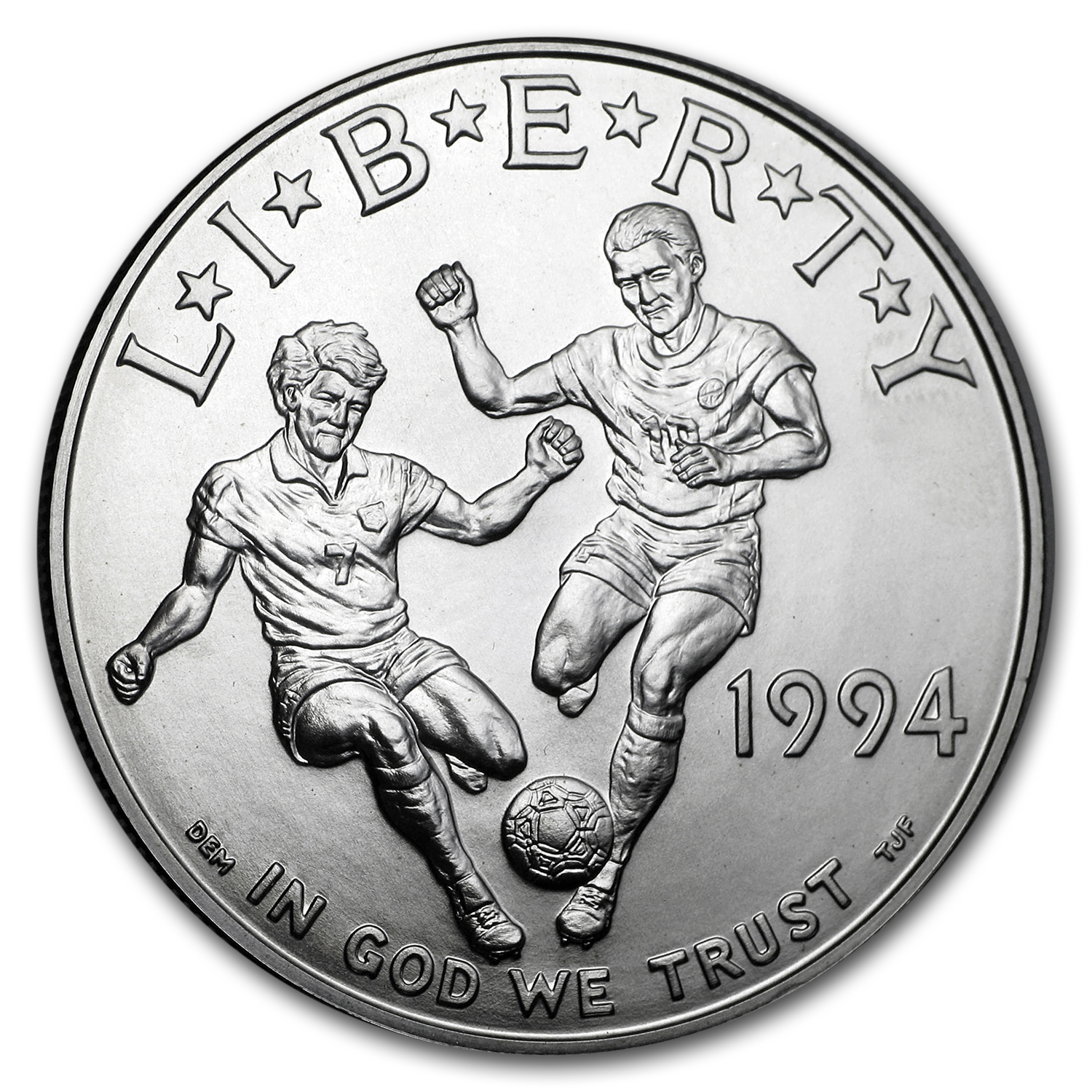1994-D World Cup $1 Silver Commem BU (w/Box & COA)