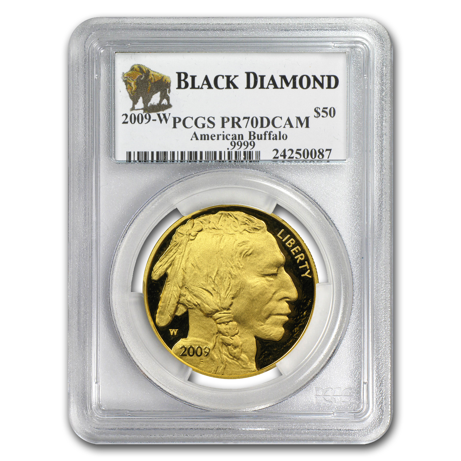 2006-2012 6-Coin 1 oz Gold Buffalo Set PR-70 PCGS (Black Diamond)