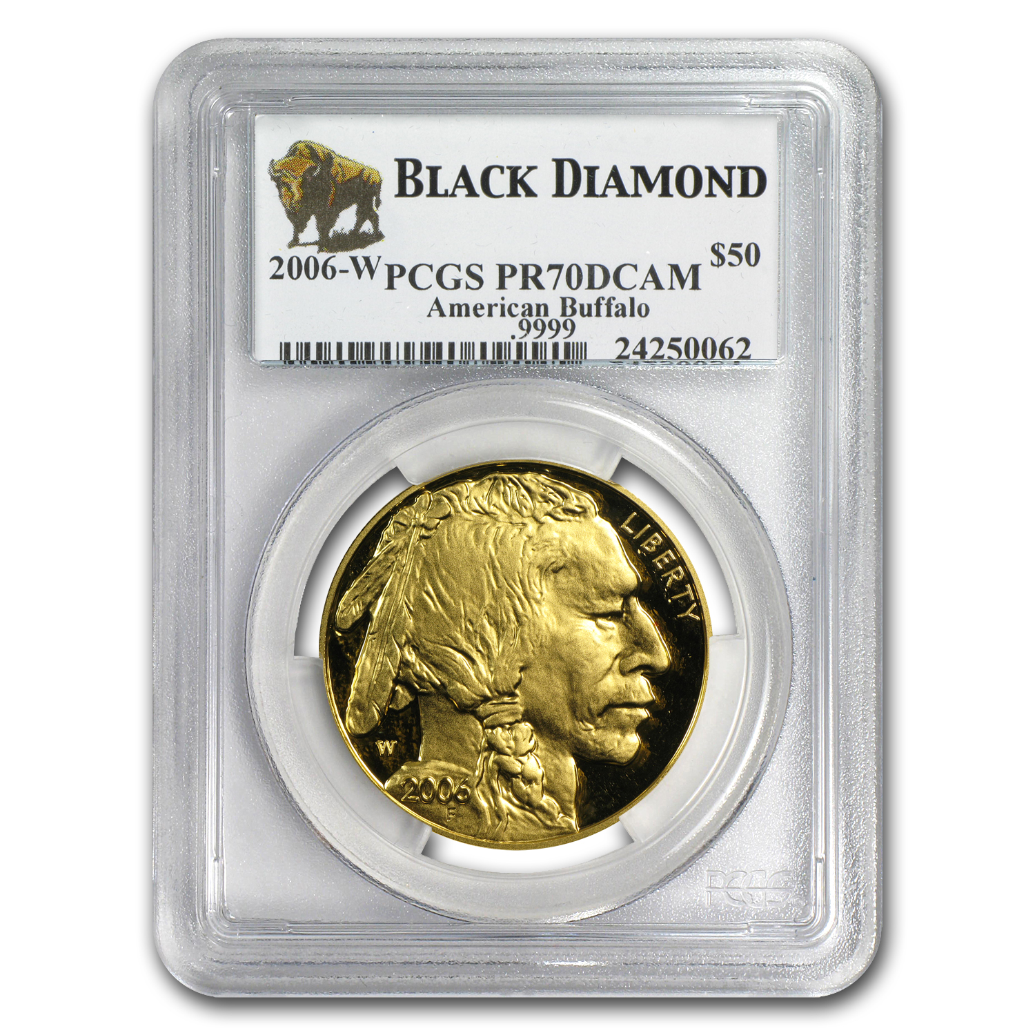 2006-2012 1 oz Gold Buffalo PR-70 PCGS Black Diamond 6-Coin Set