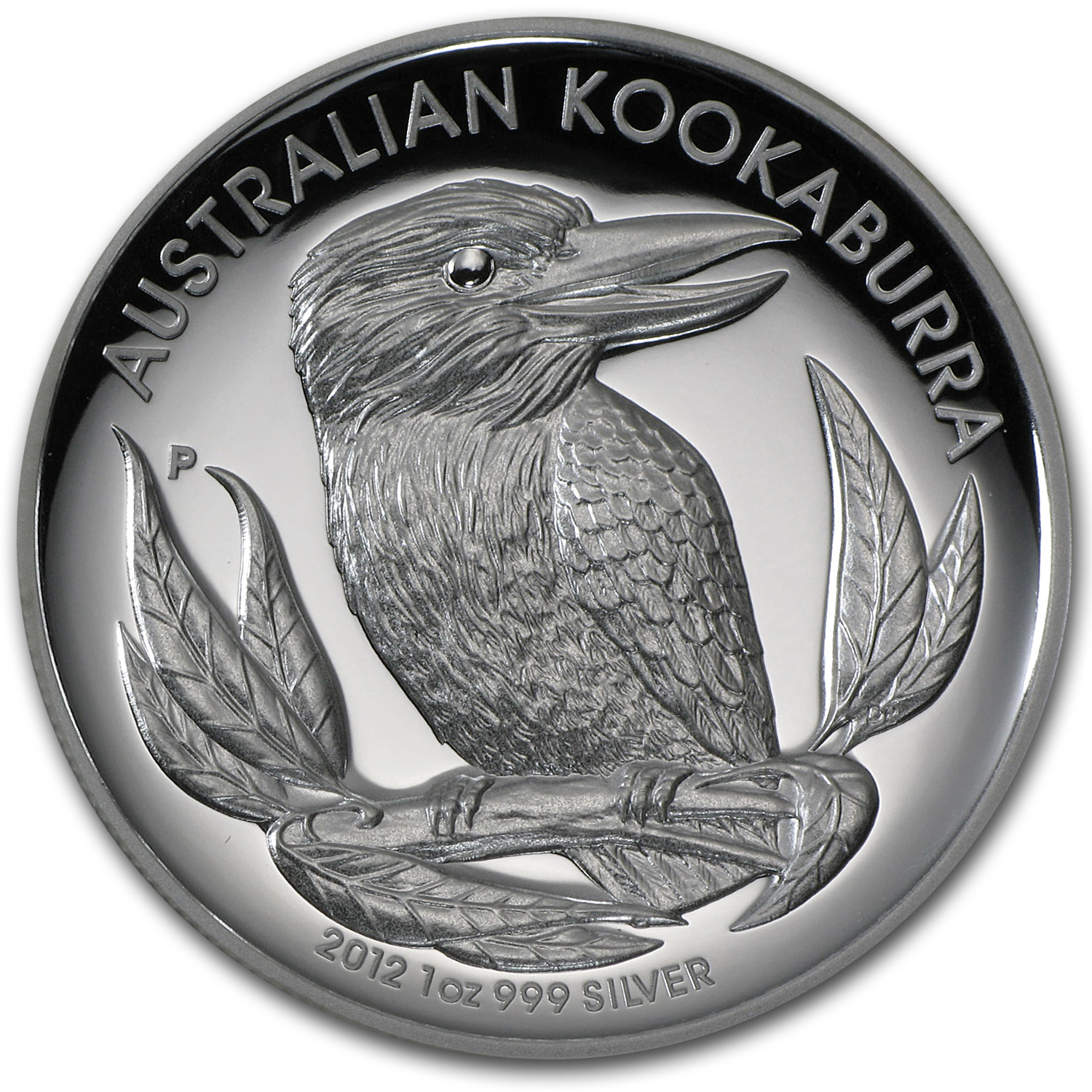 2012 1 oz Silver Australian Kookaburra Proof (High Relief)