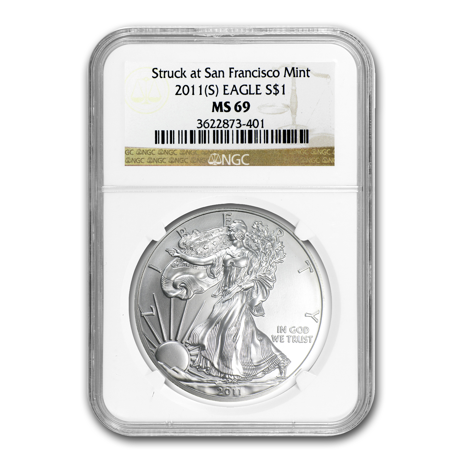 2011 (S) Silver Eagle MS-69 NGC (San Francisco Label)