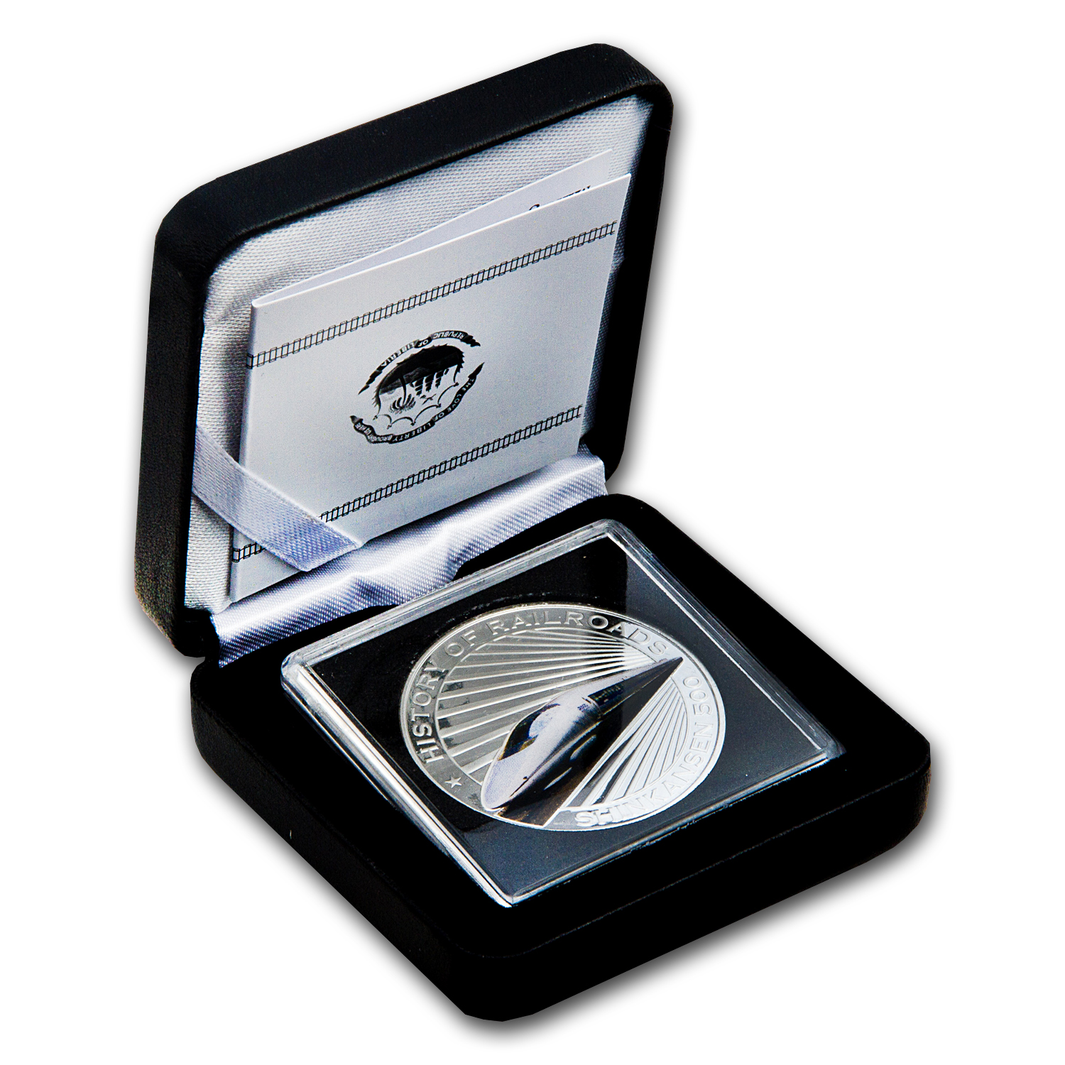 2011 Liberia Silver $5 Bullet Train Shinkansen Proof