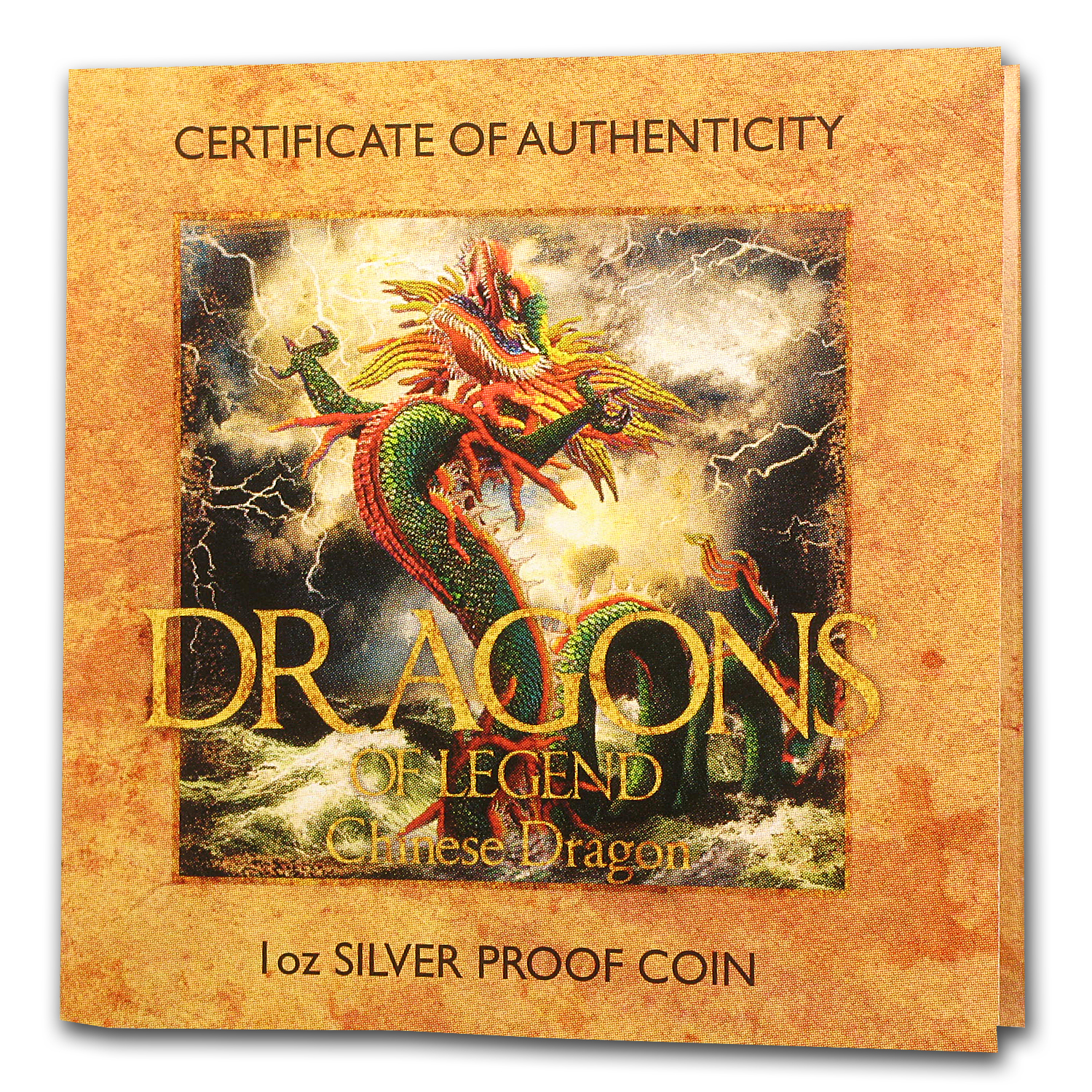 2012 1 oz Silver Dragons of Legend Proof (Chinese Dragon)