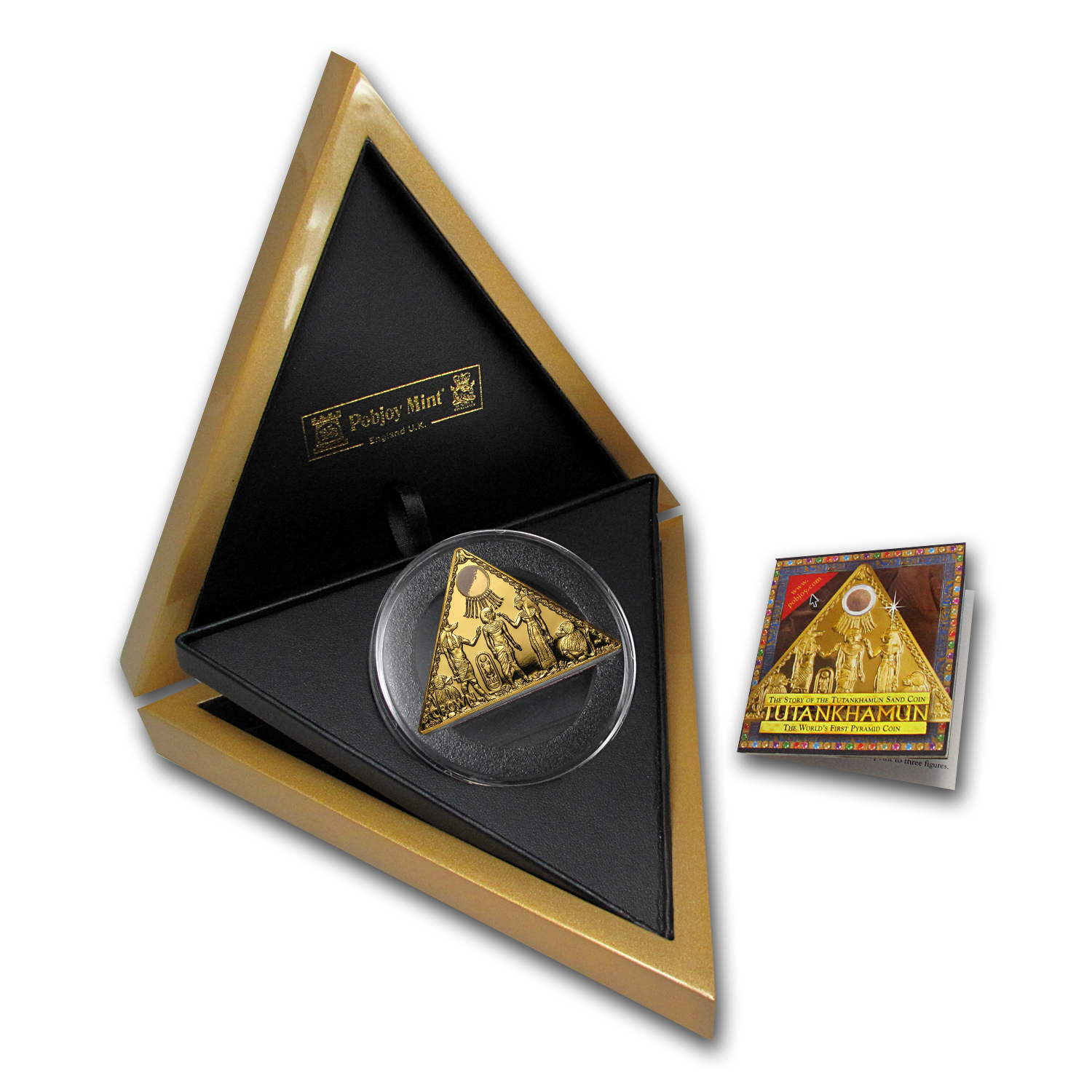 2009 Isle of Man 1 oz Prf Gold King Tut Triangle (w/Box&COA)