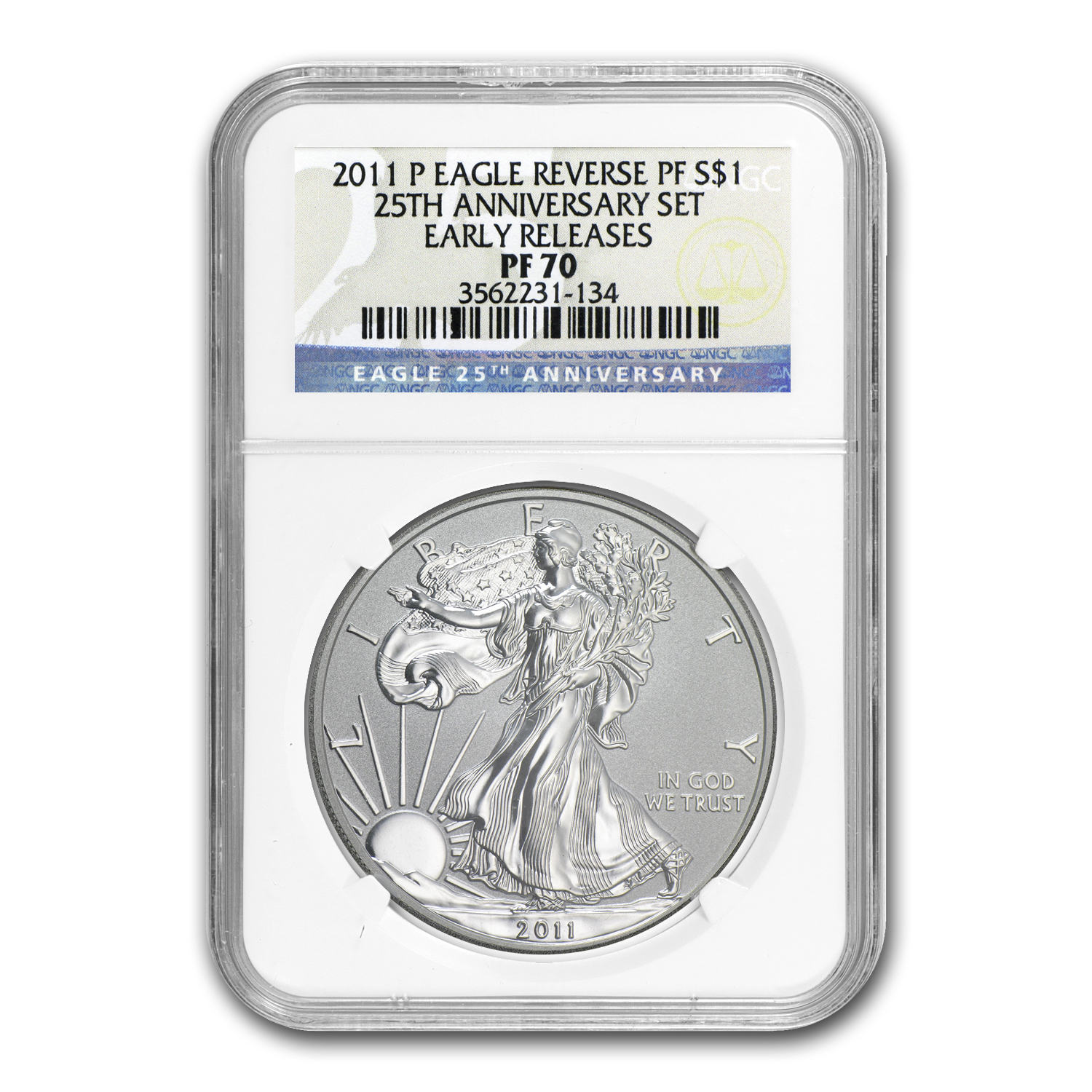 2011-P Reverse Proof Silver American Eagle PF-70 NGC (ER)