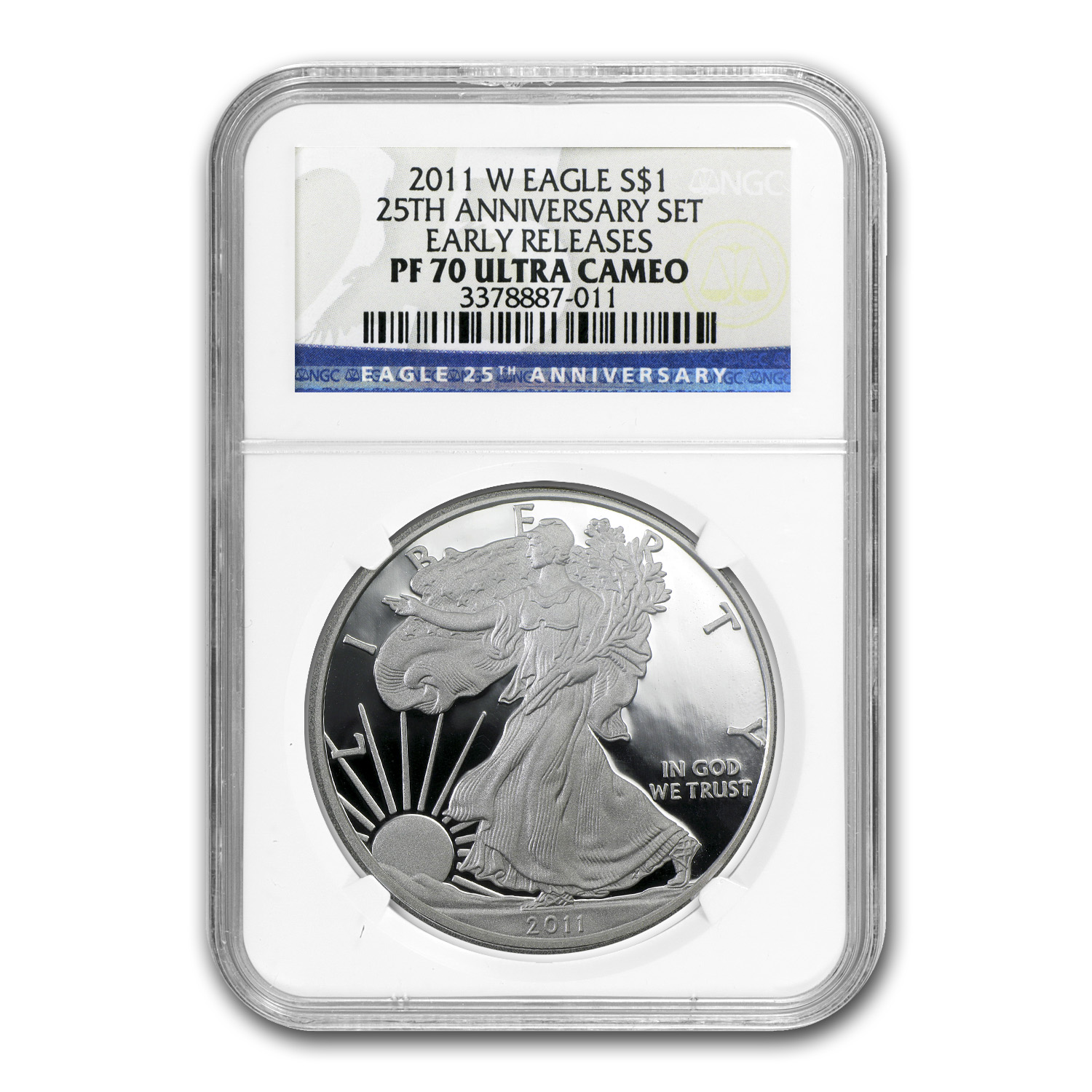 2011-W Proof Silver American Eagle PF-70 NGC (ER, 25th Anniv)