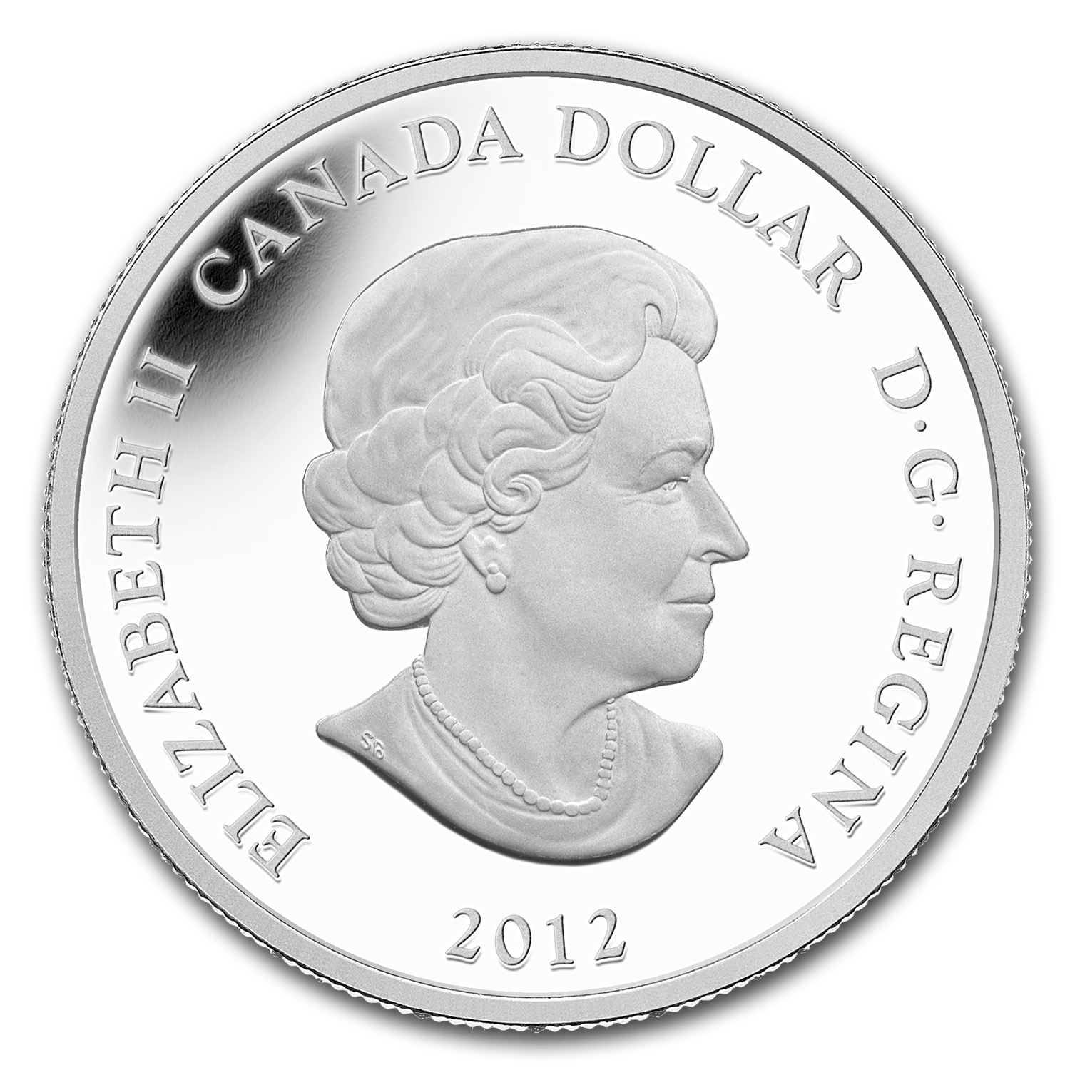 2012 1 oz Silver Canadian $1 Two Loons Artistic Loonie (Painted)