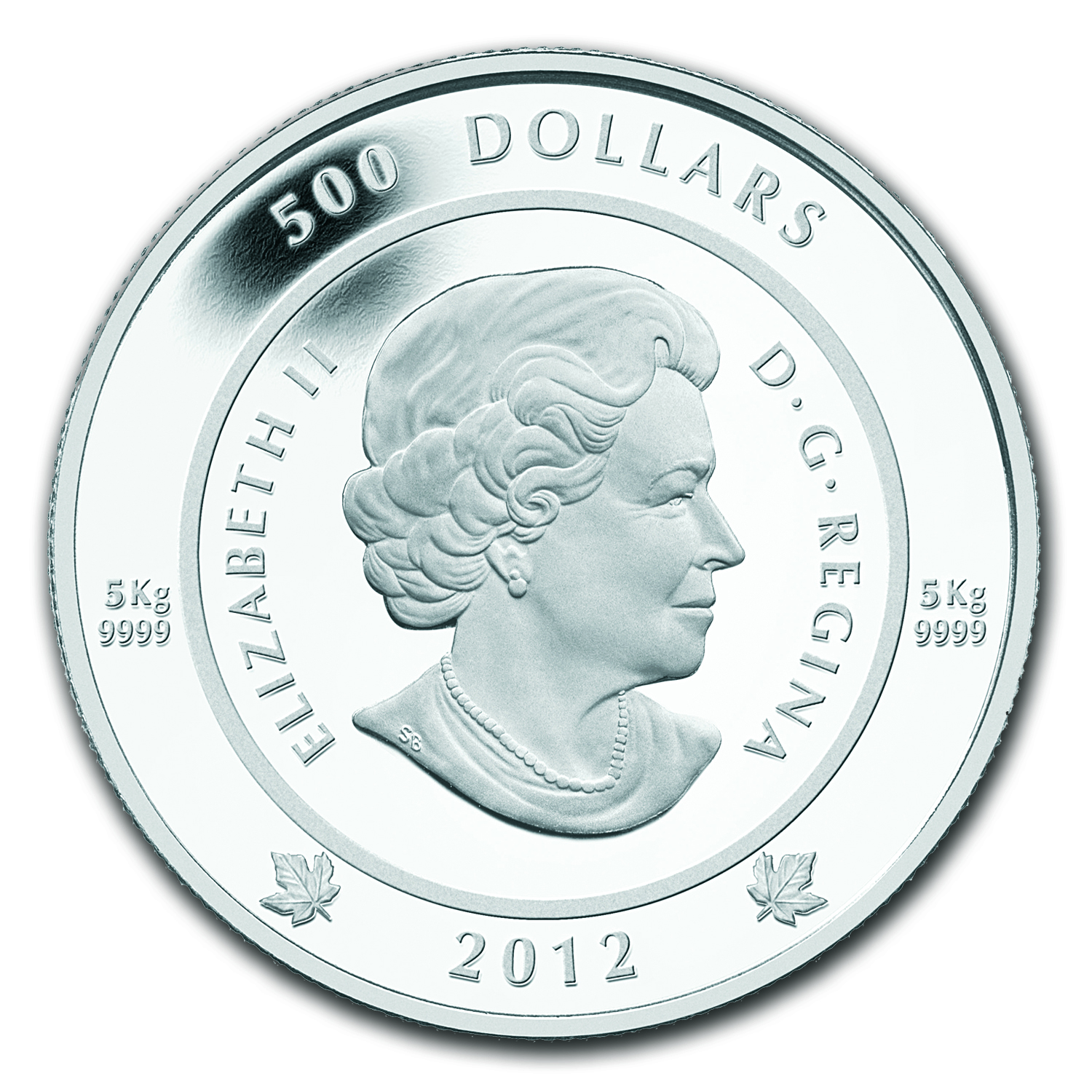 2012 5 Kilo Silver Canadian $500 - The Spirit of Haida Gwaii