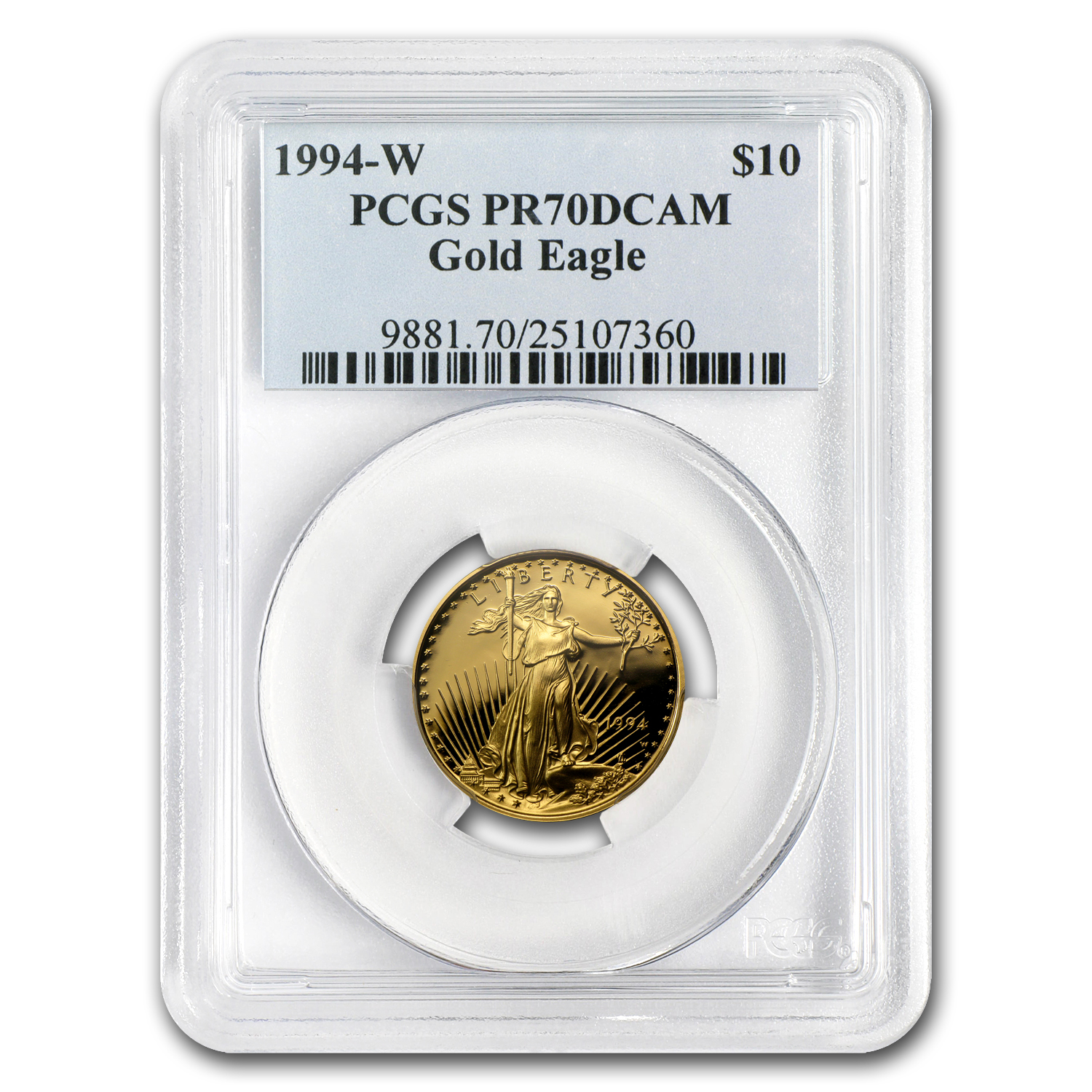 1994-W 1/4 oz Proof Gold American Eagle PR-70 PCGS